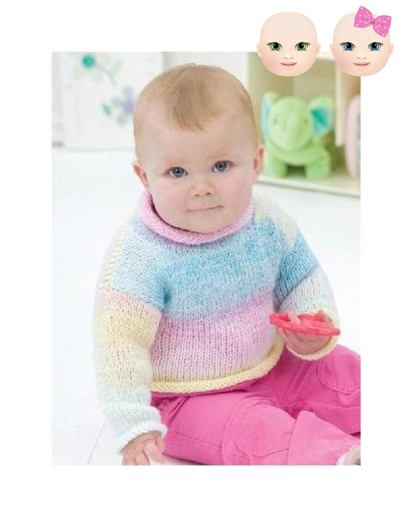 8 Ply Wool Knitting Patterns Free Pdf Digital Knitting Pattern Ba Sweater Jumper Pullover Chest