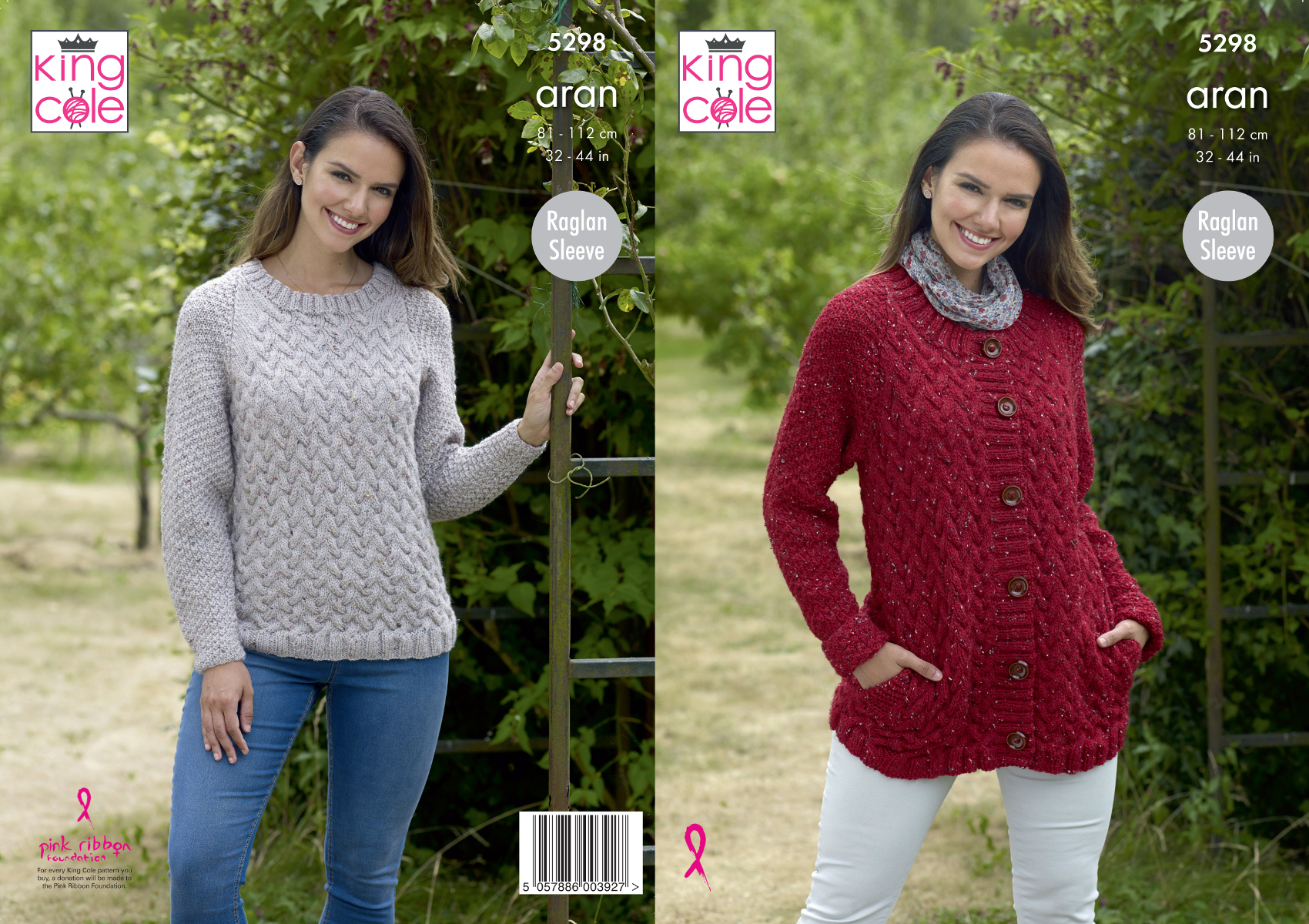Aran Jumper Knitting Patterns Details About Womens Raglan Sleeve Cable Jumper Jacket Knitting Pattern King Cole Aran 5298