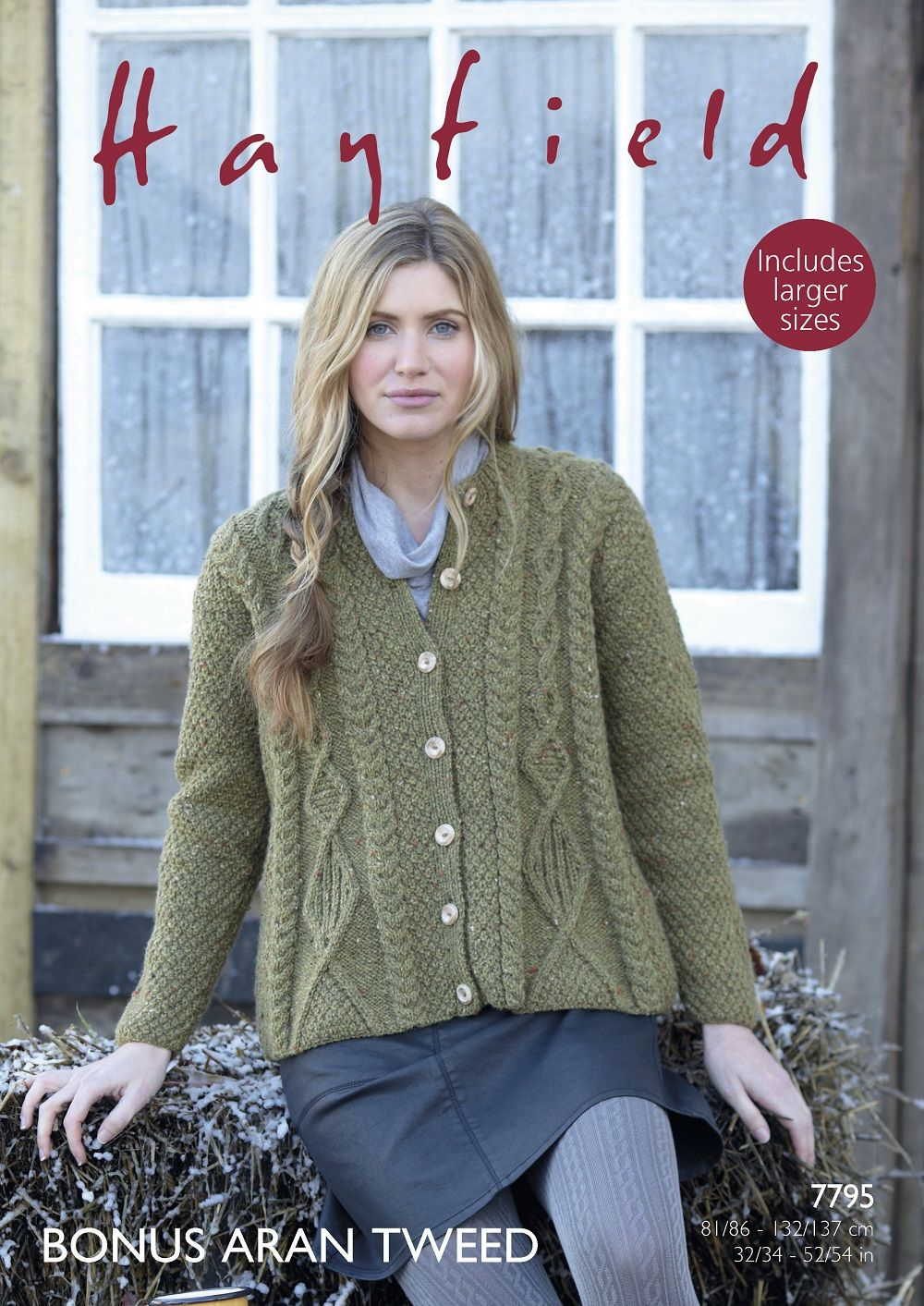 Aran Jumper Knitting Patterns Hayfield Ladies Cardigan Knitting Pattern In Bonus Aran Tweed 7795p Pdf
