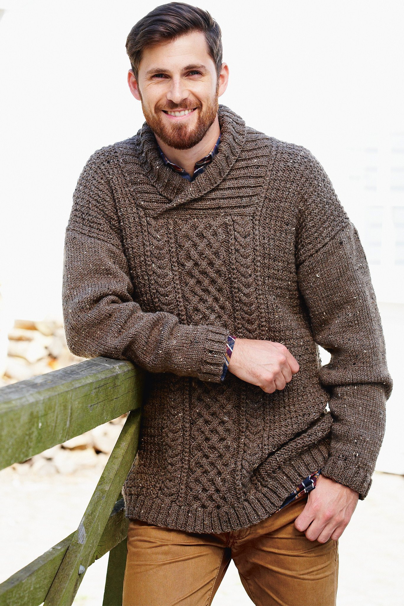 Aran Jumper Knitting Patterns Mens Aran Sweater Knitting Pattern