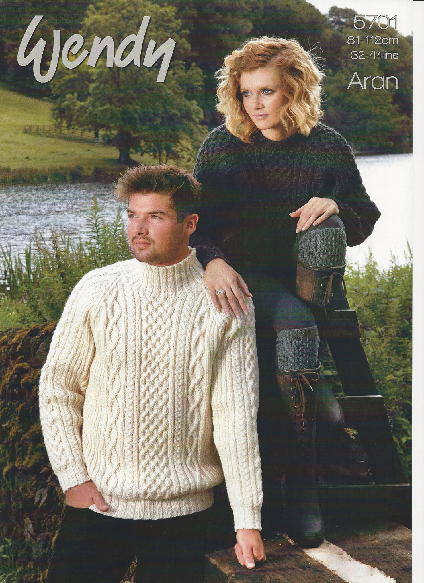 Aran Jumper Knitting Patterns Wendy Mens Ladies His Hers Sweaters Aran Knitting Pattern 5701