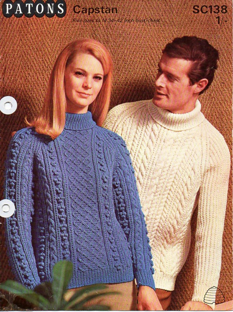 Aran Knit Cardigan Pattern Womens Mens Aran Sweater Knitting Pattern Pdf Ladies Cable Jumper Polo Neck Roll Neck 34 42 Aran Worsted 10ply Instant Download