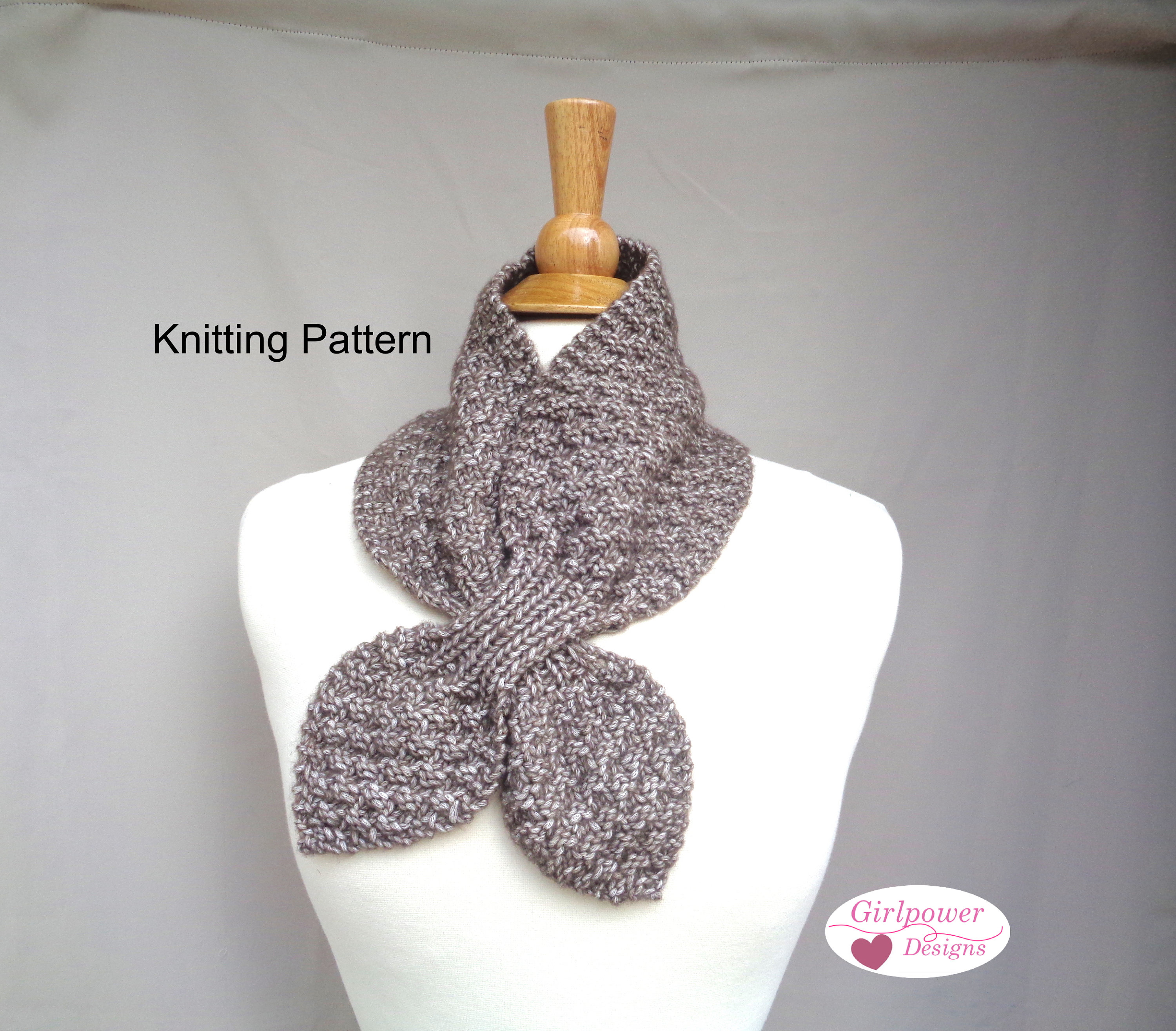 Ascot Scarf Knitting Pattern Box Stitch Ascot Scarf Knitting Pattern Easy Neck Warmer Bow Scarf Worsted Aran Yarn Women Teen Girls