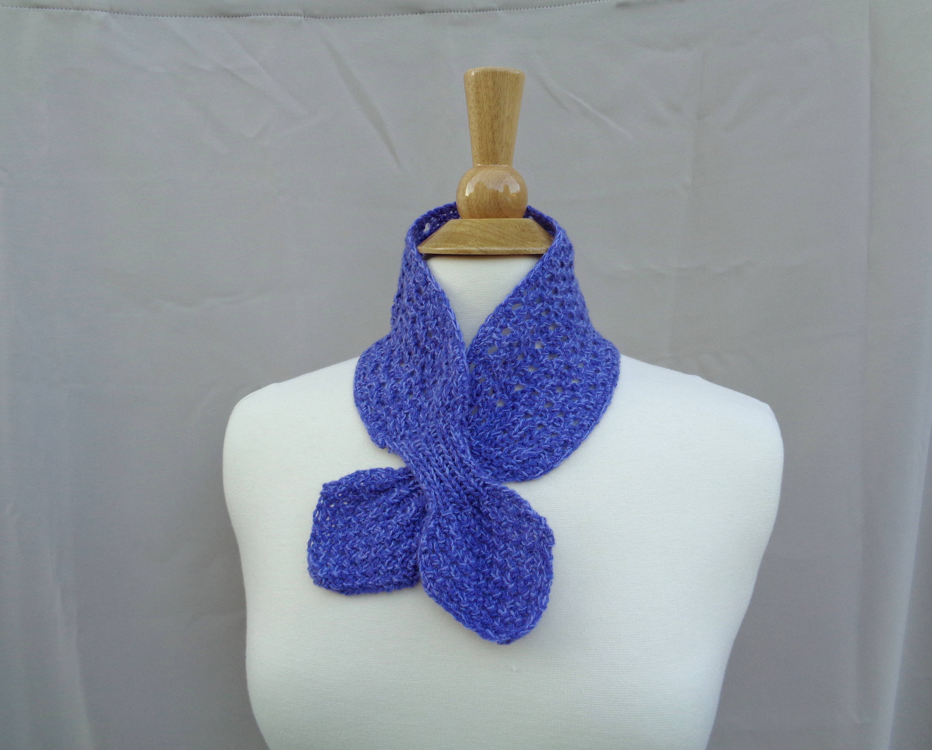 Ascot Scarf Knitting Pattern Cashmere Ascot Scarf Pull Through Keyhole Small Neck Scarf Hand Knit Nec