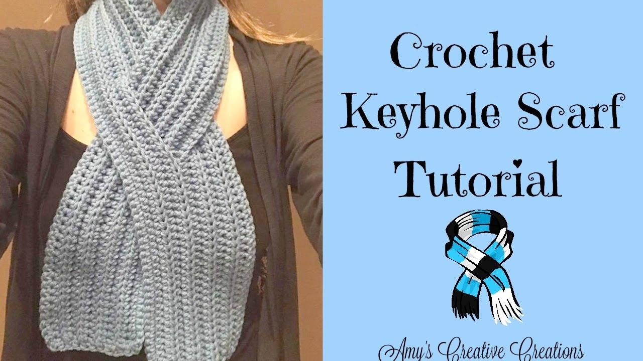 Ascot Scarf Knitting Pattern Crochet Keyhole Scarf Tutorial Crochet Jewel