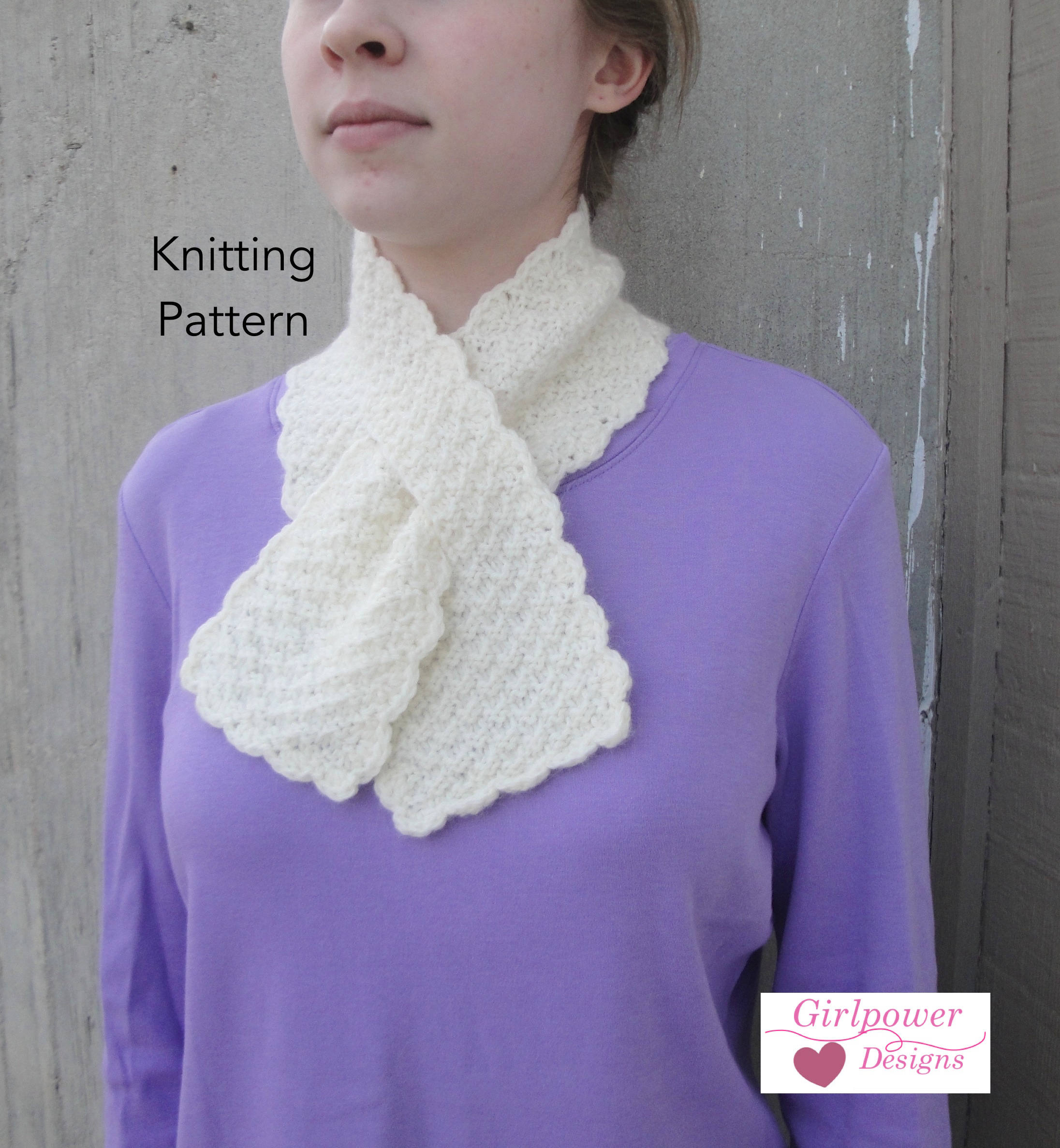 Ascot Scarf Knitting Pattern Pull Through Scarf Knitting Pattern Easy Ascot Neck Warmer Office Scarflette Keyhole Scarf Worsted Weight Yarn
