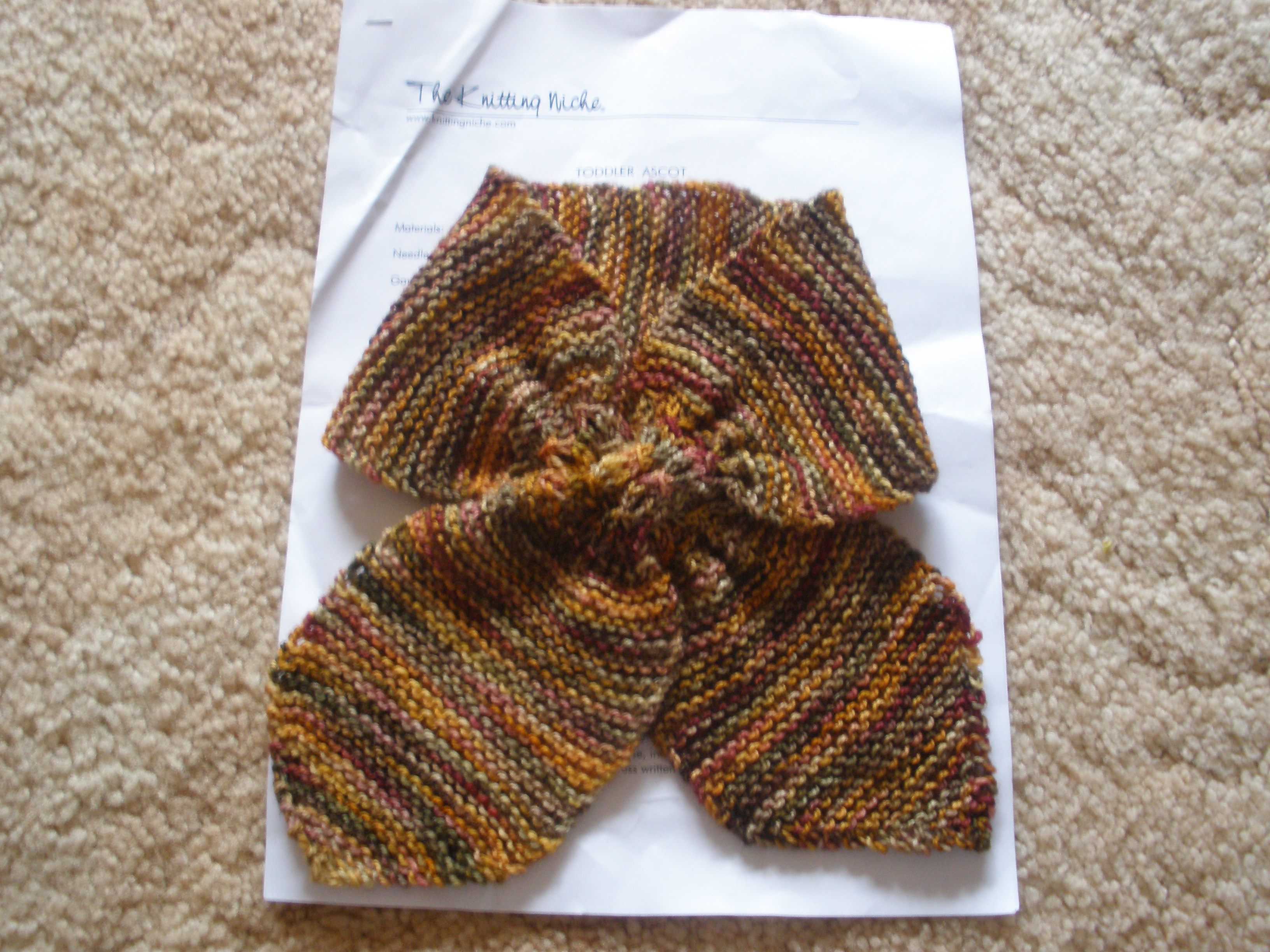 Ascot Scarf Knitting Pattern Toddler Ascot Gippsland Granny