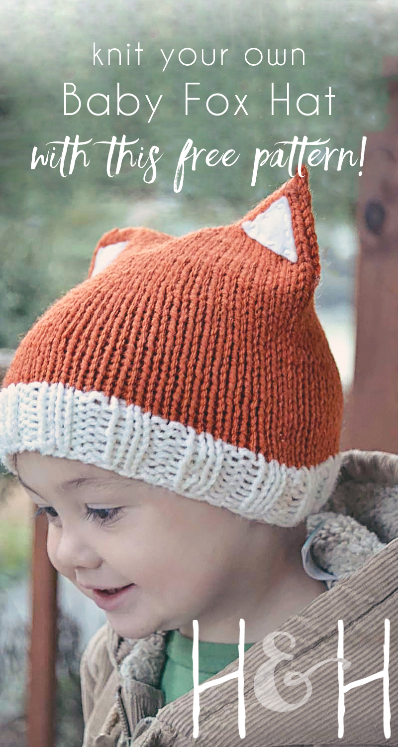 Baby Beanie Hat Knitting Pattern Ba Fox Hat Homegrown In The Valley