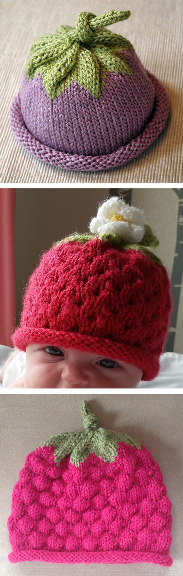 Baby Beanie Hat Knitting Pattern Fruit Knitting Patterns In The Loop Knitting