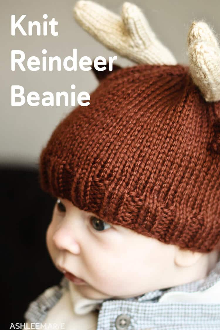 Baby Beanie Hat Knitting Pattern Knit Reindeer Beanie Ashlee Marie Real Fun With Real Food
