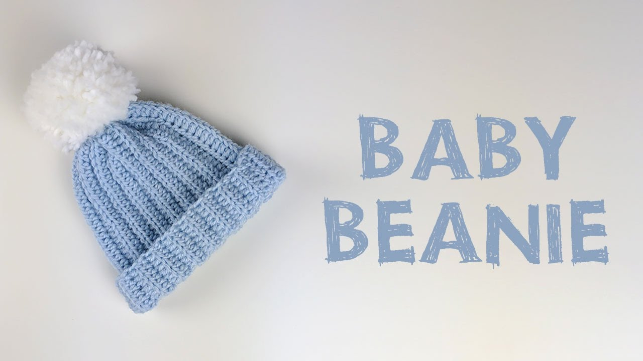 Baby Beanie Hat Knitting Pattern Very Easy Crochet Ba Beanie Tutorial Cro Patterns