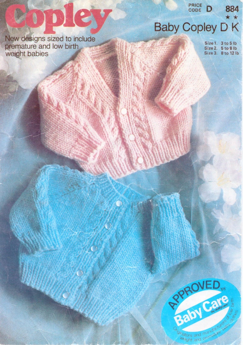 Baby Coat Knitting Pattern Ba Cardigan Knitting Pattern Ba Jacket Newborn Cable Cardigan V Neck Round Dk 13 16 Inch Cable Knitting Pattern Pdf Instant Download
