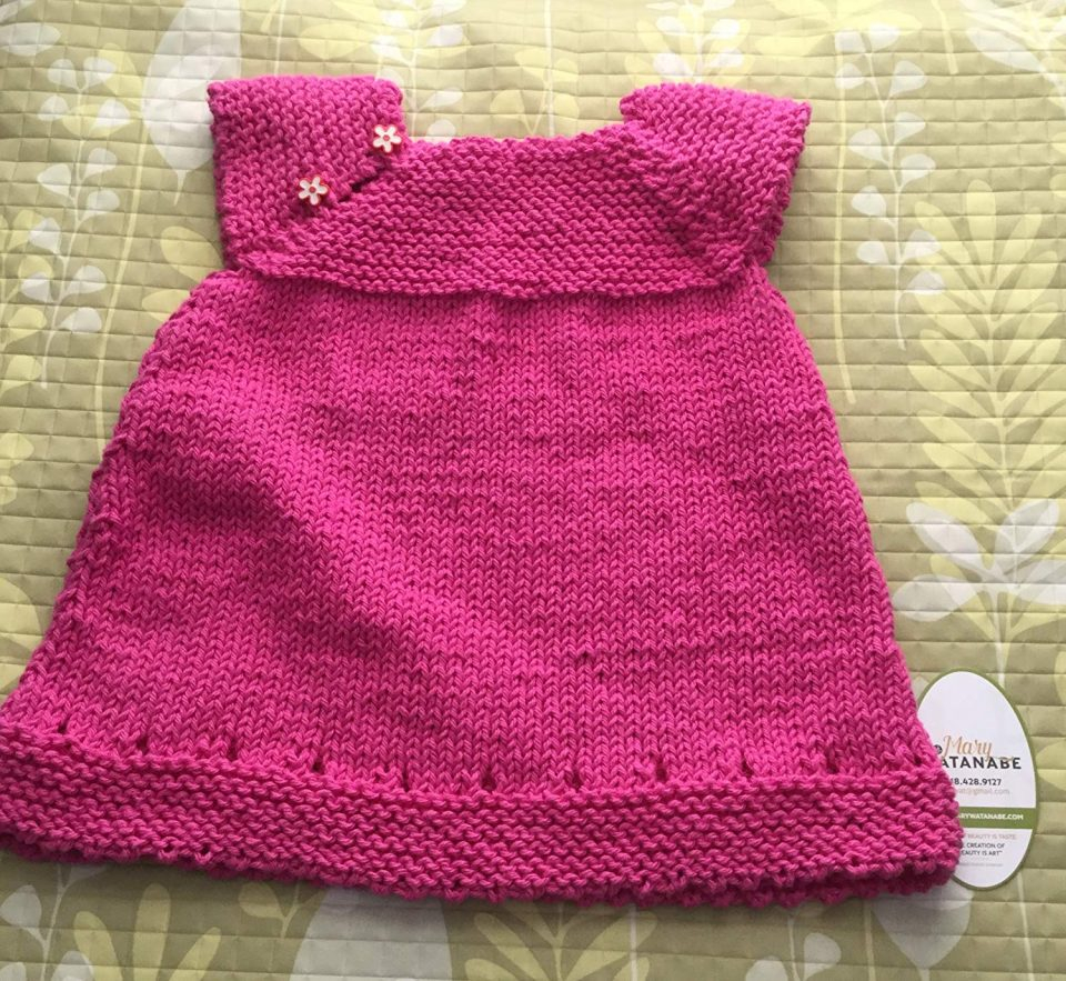 Baby Coat Knitting Pattern Cute Knit Ba Sweater Dress Pink Cotton Yarn Knitted Sweaters For