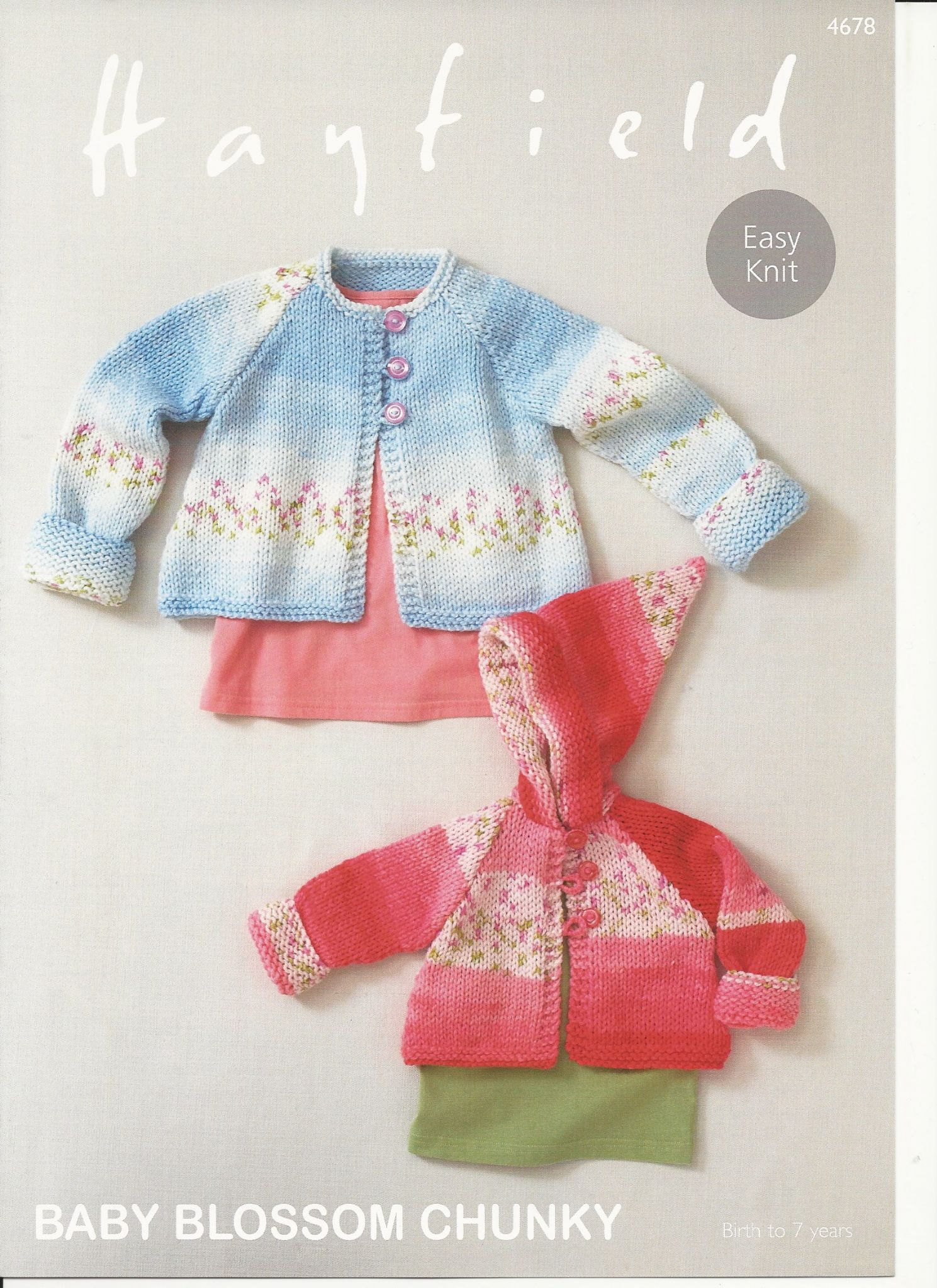 Baby Coat Knitting Pattern Hayfield Babies Coats Knitting Pattern In Ba Blossom Chunky 4678