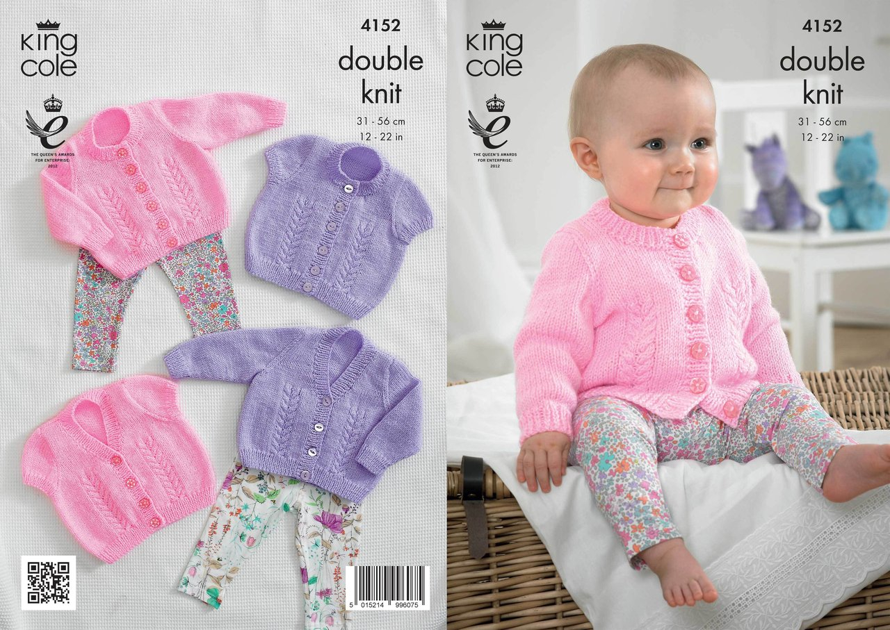 Baby Coat Knitting Pattern King Cole 4152 Knitting Pattern Ba Cardigans In King Cole Big Value Ba Dk