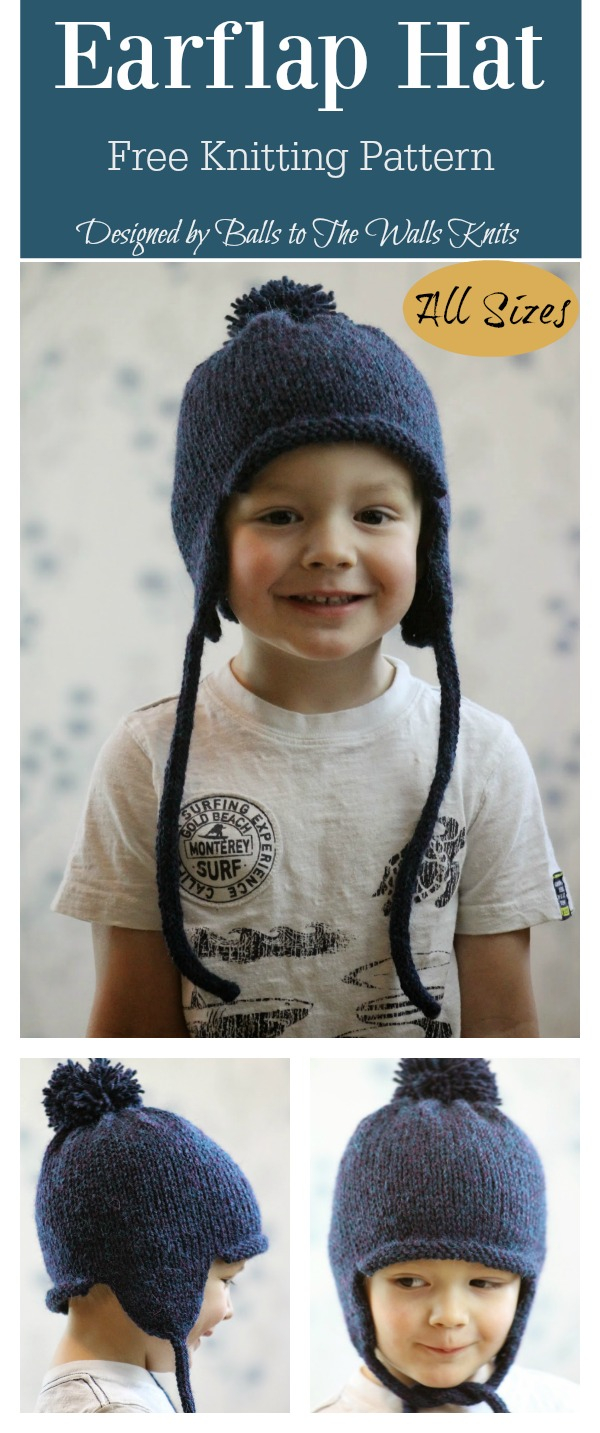 Baby Earflap Hat Knitting Pattern All In The Family Earflap Hat Free Knitting Pattern