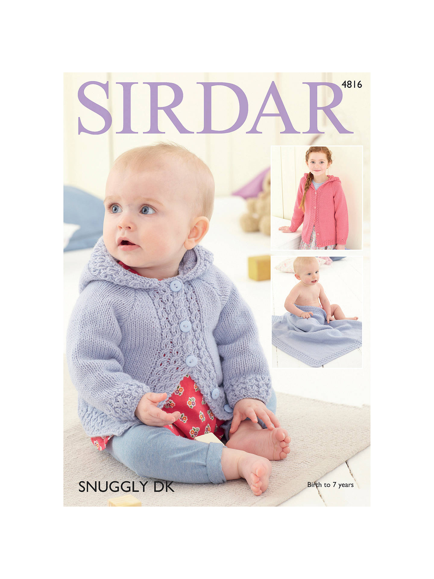 Baby Girl Blanket Knitting Patterns Ba Girls And Girls Hooded Jacket Blanket Knitting Pattern Sirdar 4816