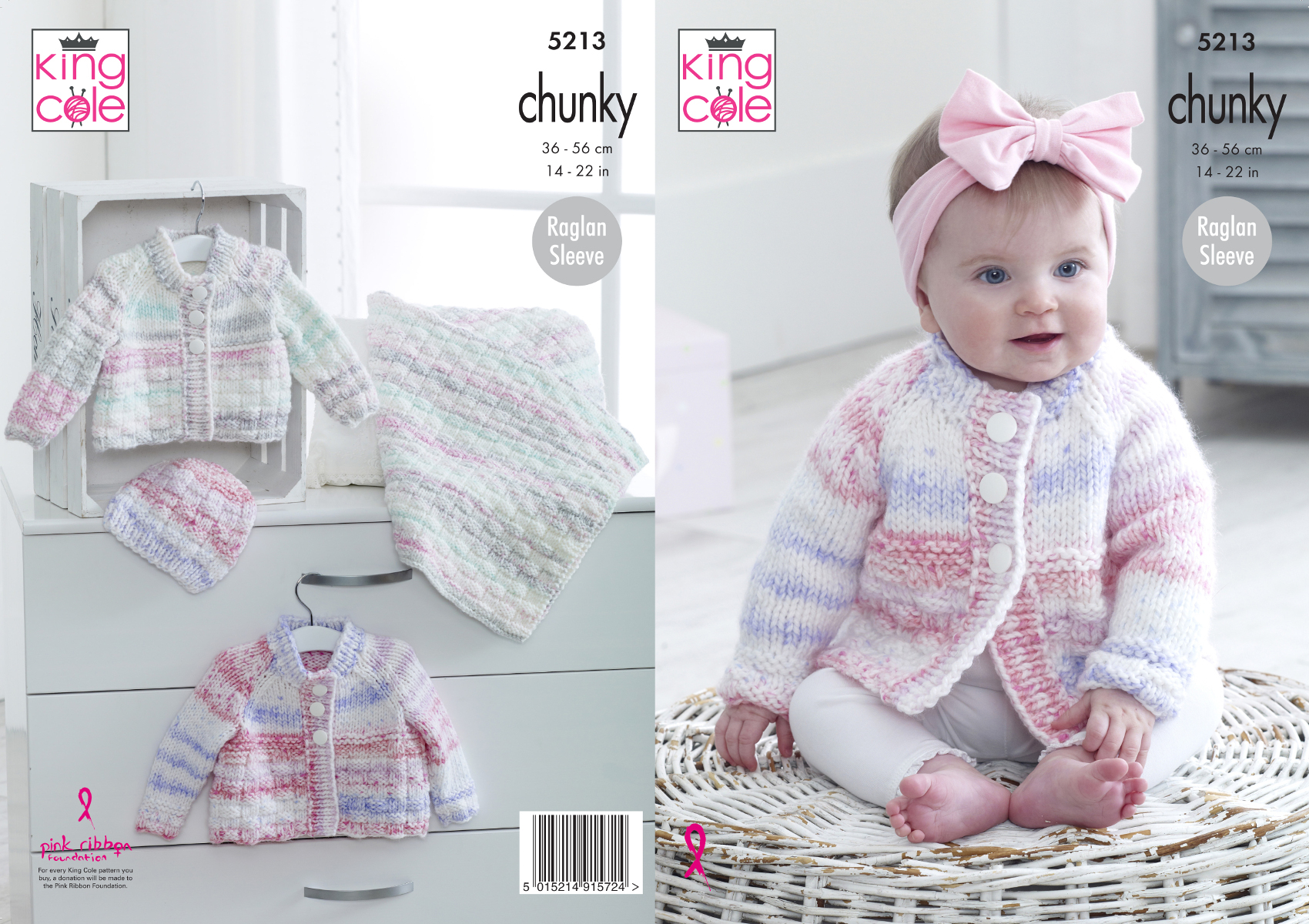 Baby Girl Blanket Knitting Patterns Details About Chunky Knitting Pattern King Cole Ba Raglan Sleeve Cardigans Hat Blanket 5213