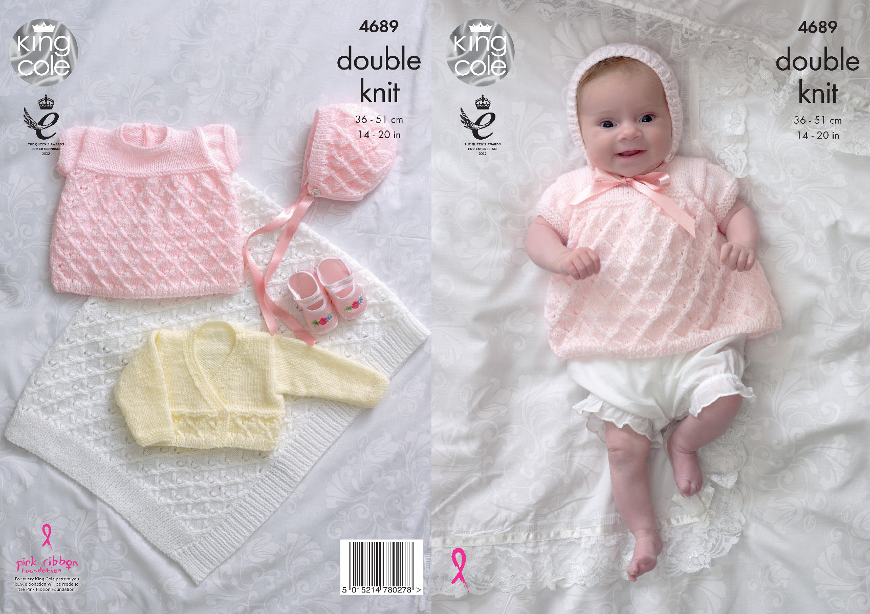 Baby Girl Blanket Knitting Patterns Details About Knitting Pattern Ba Cardigan Angel Top Bonnet Blanket King Cole Dk 4689