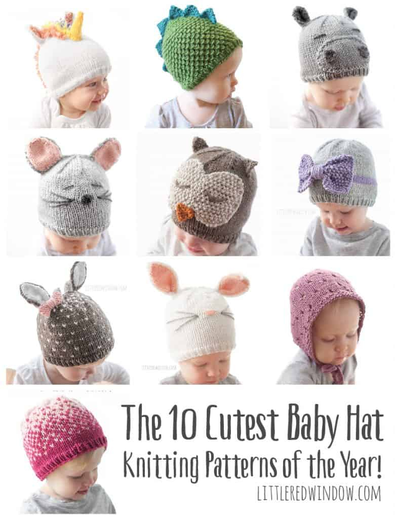 Baby Hat Patterns To Knit 10 Cutest Ba Hat Knitting Patterns Of The Year Little Red Window