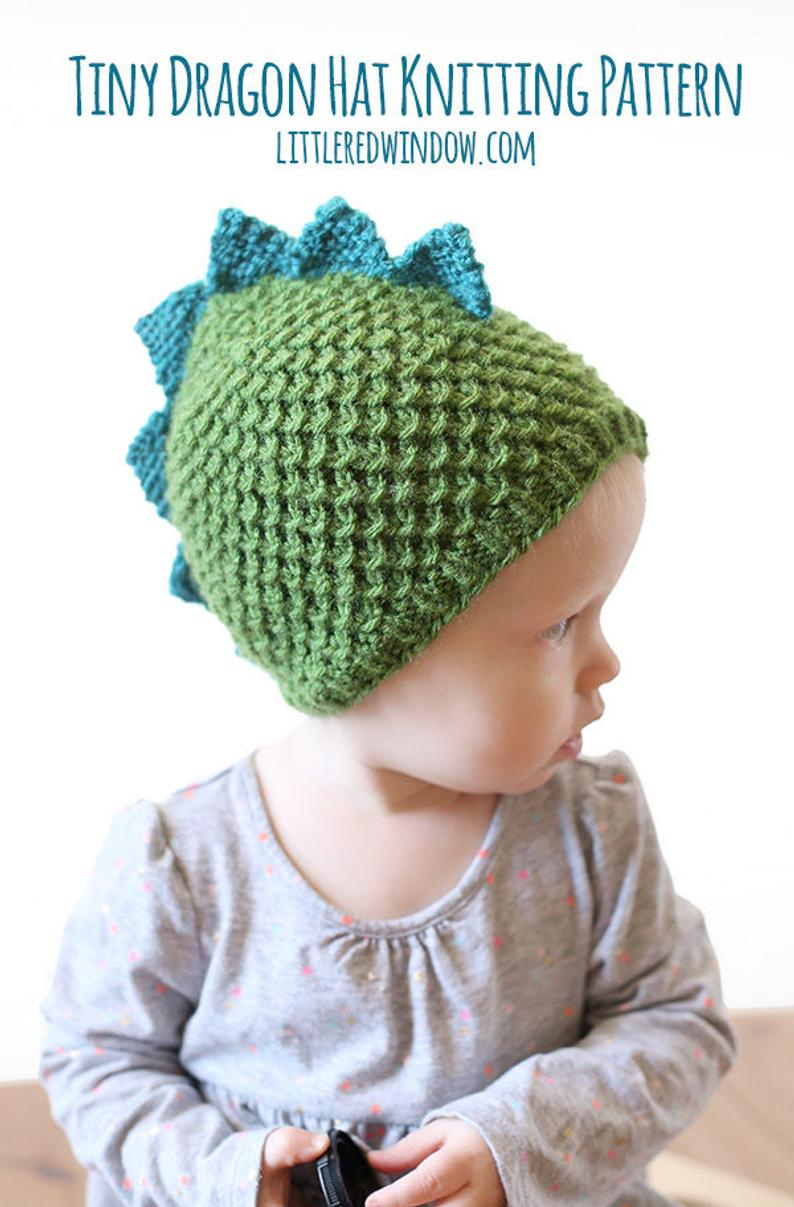 Baby Hat Patterns To Knit Dragon Hat Pattern Knitting Pattern For Babies And Toddlers Dinosaur Hat Pattern Dinosaur Ba Hat Knit Dragon Hatba Dinosaur Outfit