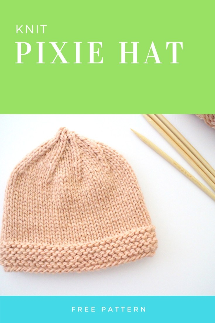 Baby Hat Patterns To Knit Pixie Knit Ba Hat Free Pattern Bhooked Knitting