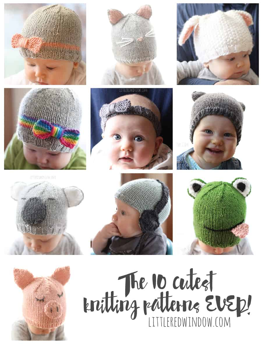 Baby Hat Patterns To Knit The 10 Cutest Free Ba Hat Patterns Ever Little Red Window