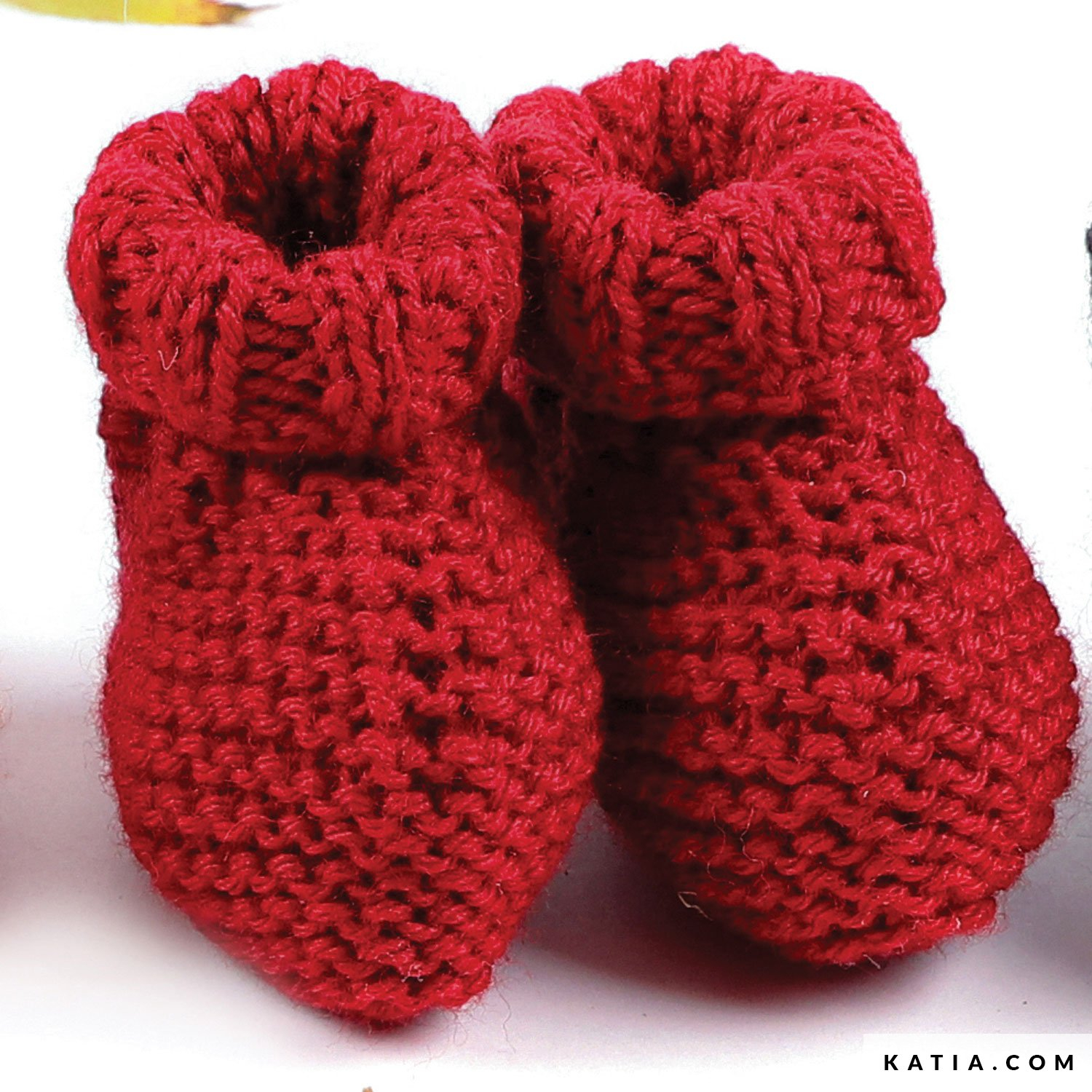 Basic Baby Booties Knitting Pattern Ba Booties Ba Autumn Winter Models Patterns Katia
