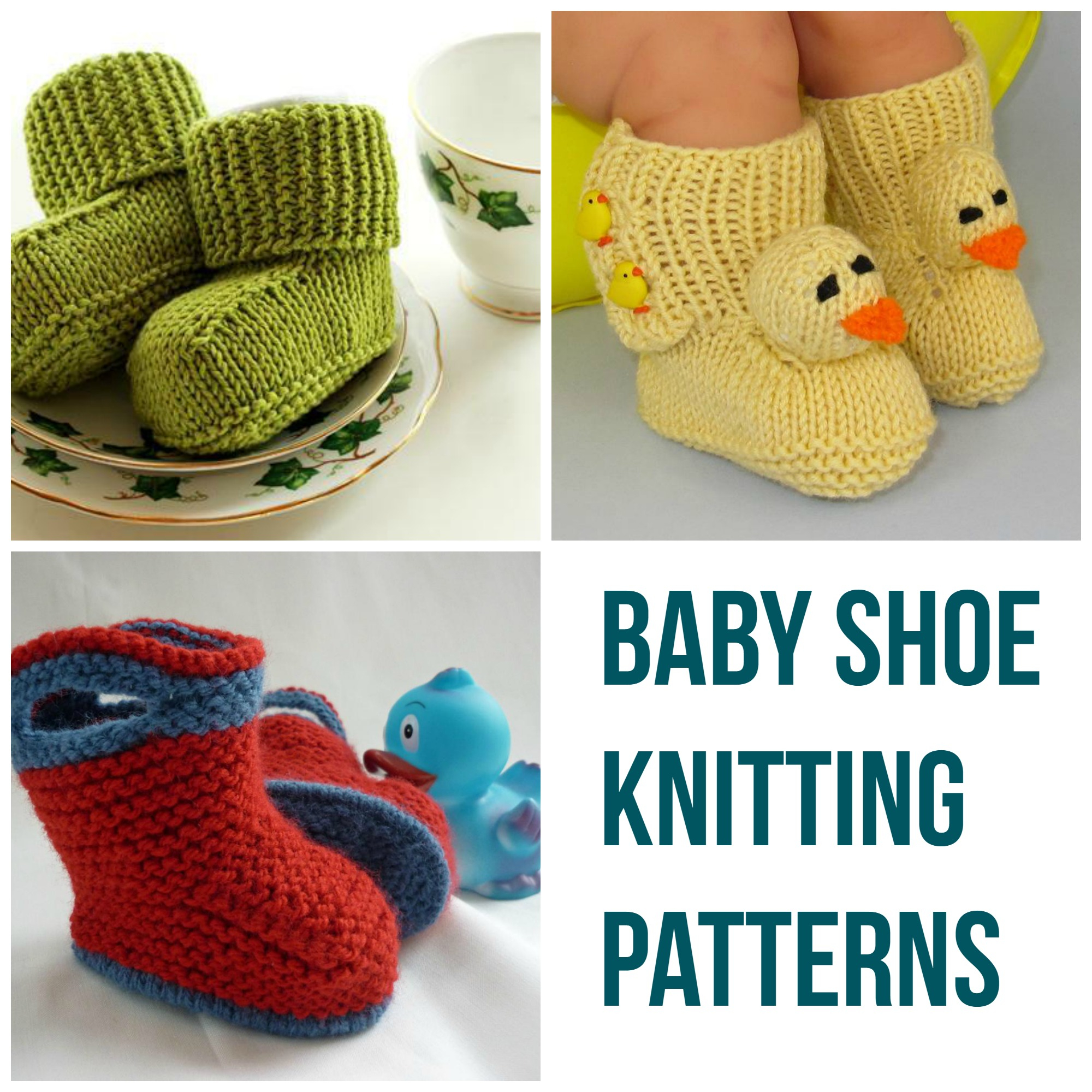 Basic Baby Booties Knitting Pattern Ba Shoe Knitting Patterns