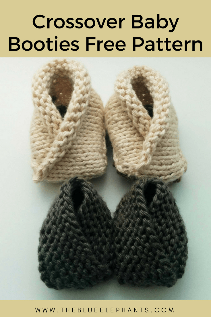 Basic Baby Booties Knitting Pattern Crossover Ba Booties 2 Free Knitting Patterns For Beginners