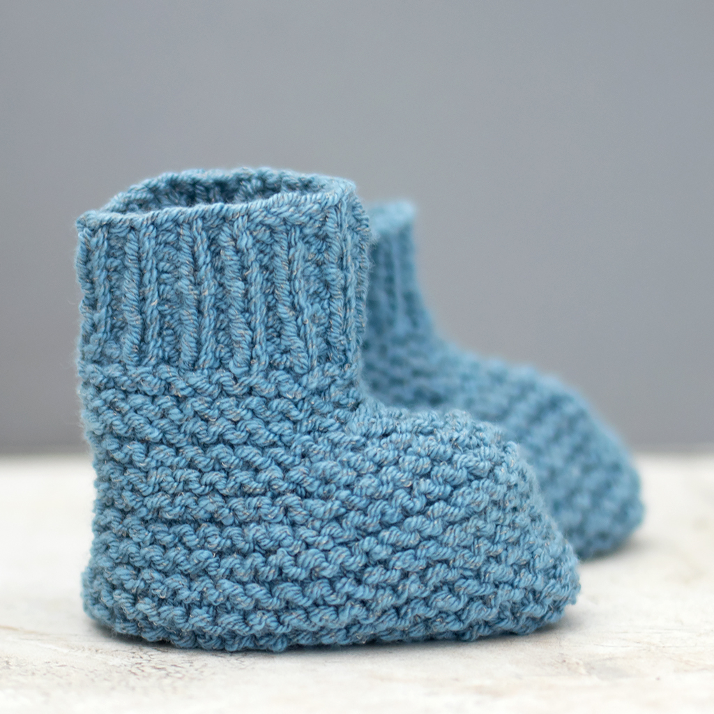 Basic Baby Booties Knitting Pattern Easy Stay On Ba Booties Knitting Pattern Gina Michele