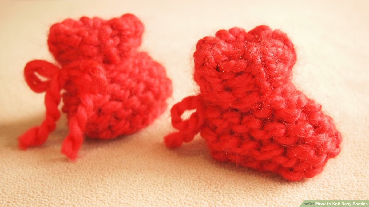 Basic Baby Booties Knitting Pattern How To Knit Ba Booties 12 Steps With Pictures Wikihow