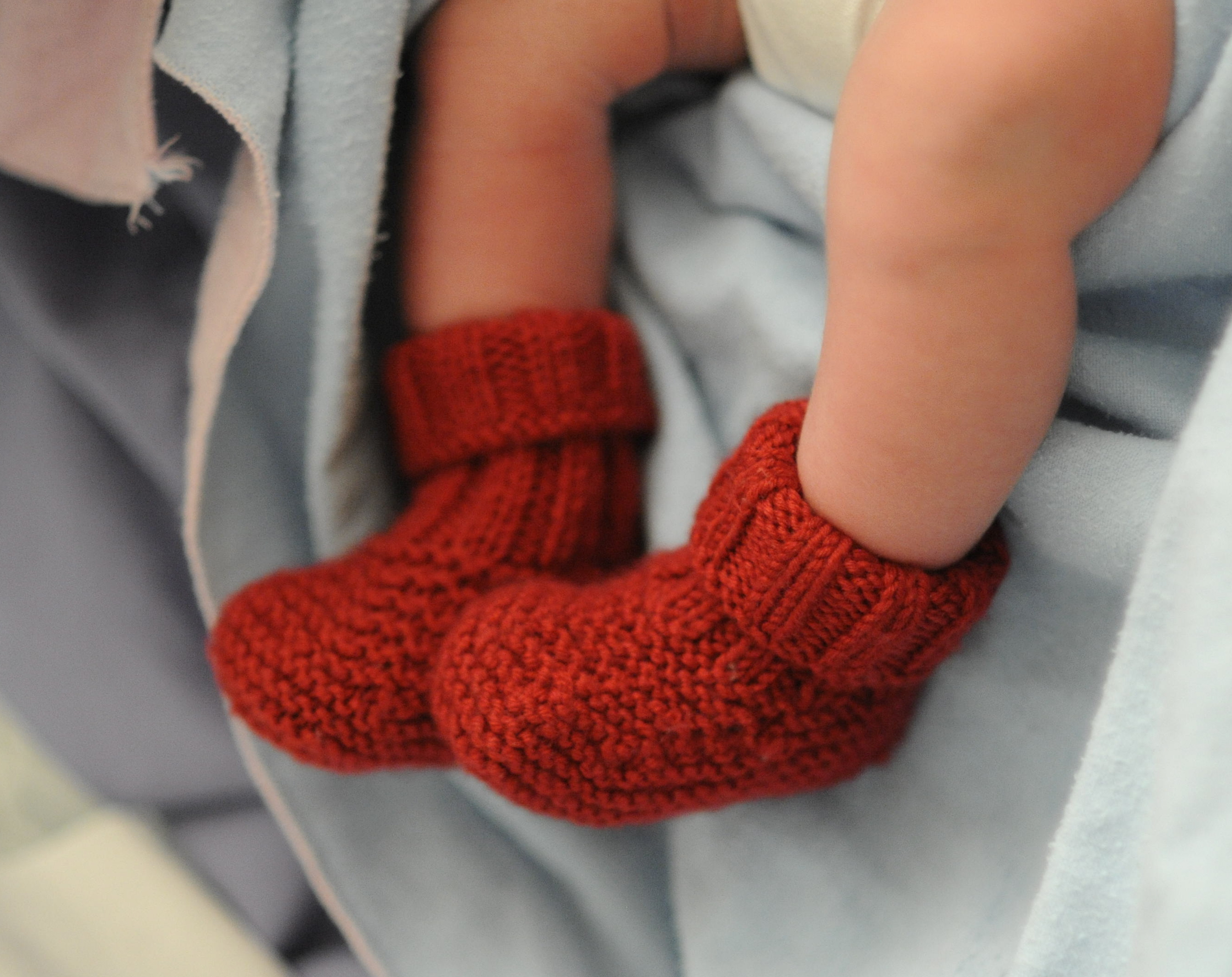 Basic Baby Booties Knitting Pattern On Ba Booties Knit Three Together