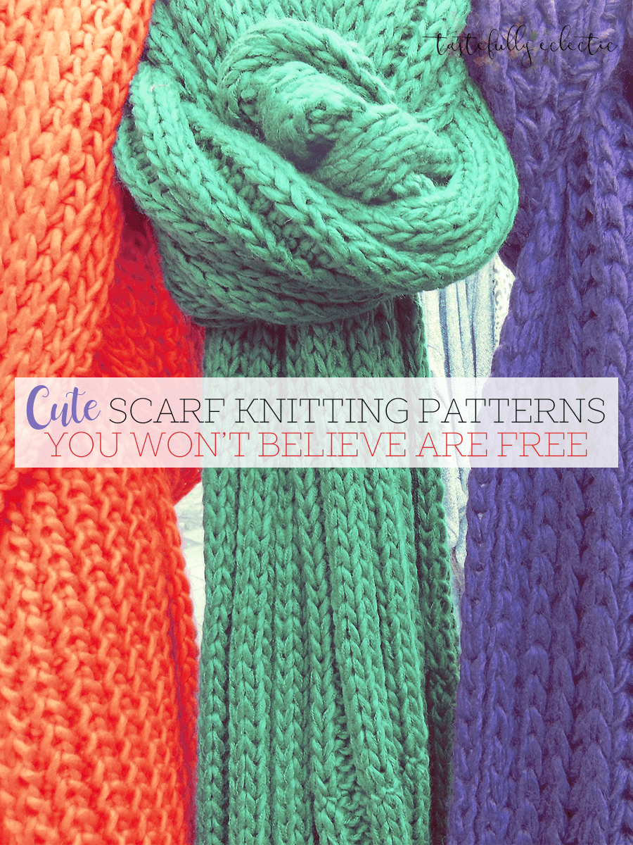 Basic Knitting Scarf Patterns Cute Scarf Knitting Patterns You Wont Believe Are Free Tastefully
