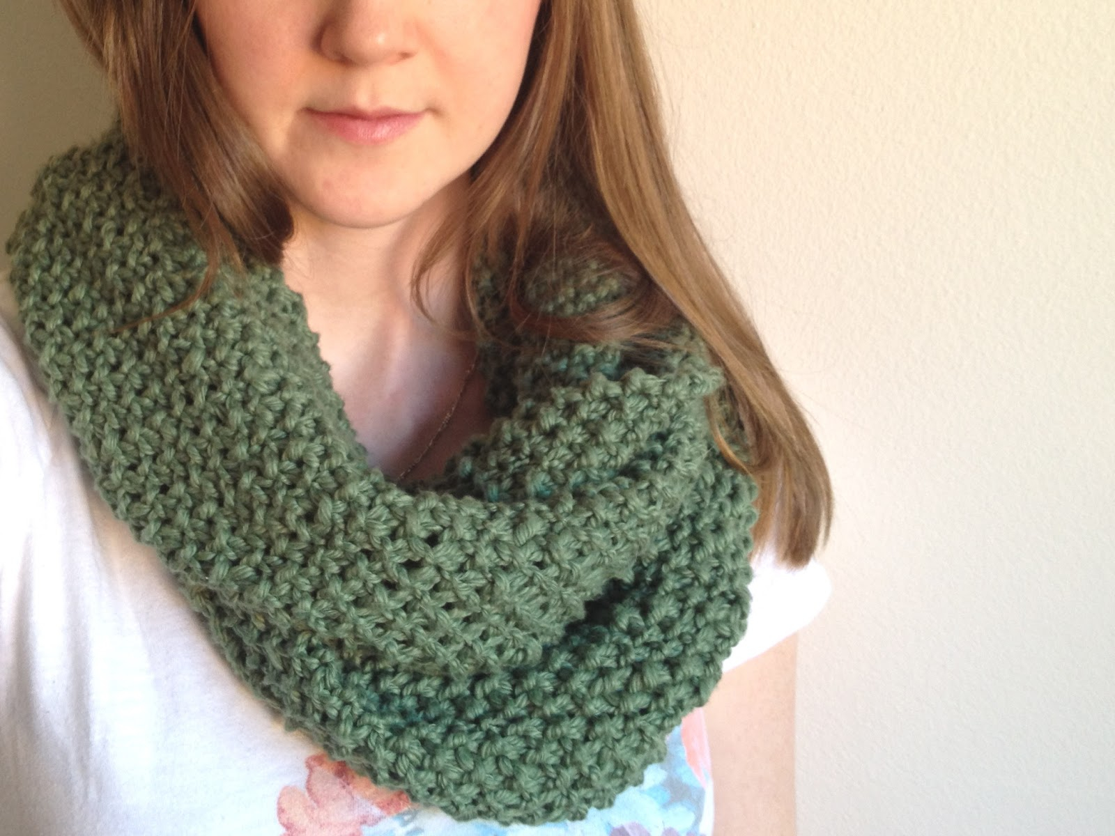 Basic Knitting Scarf Patterns Tinselmint Free Infinity Scarf Pattern For Beginners