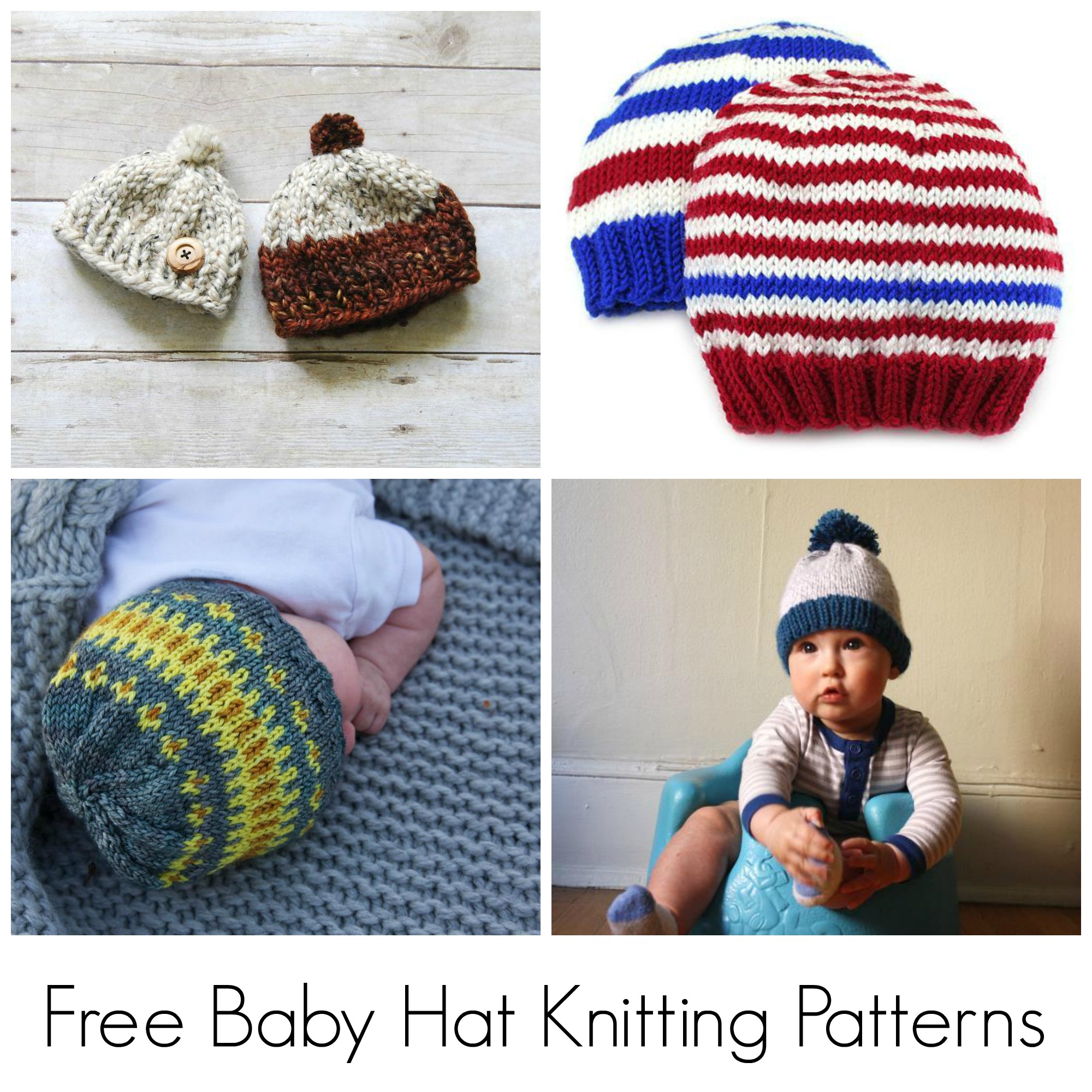 Beginner Baby Knitting Patterns 10 Free Knitting Patterns For Ba Hats On Craftsy