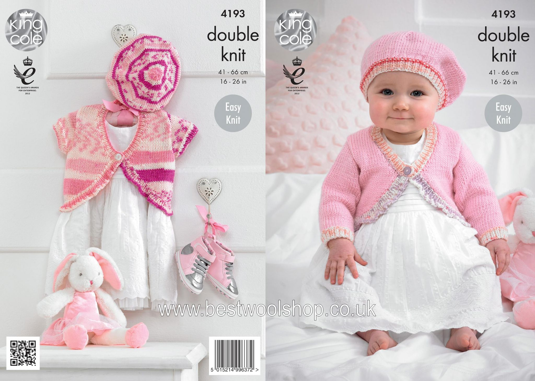 Beret Knitting Pattern Easy 4193 King Cole Cherish Cherished Dk Bolero Cardigan Beret Knitting Pattern To Fit 0 To 7 Years