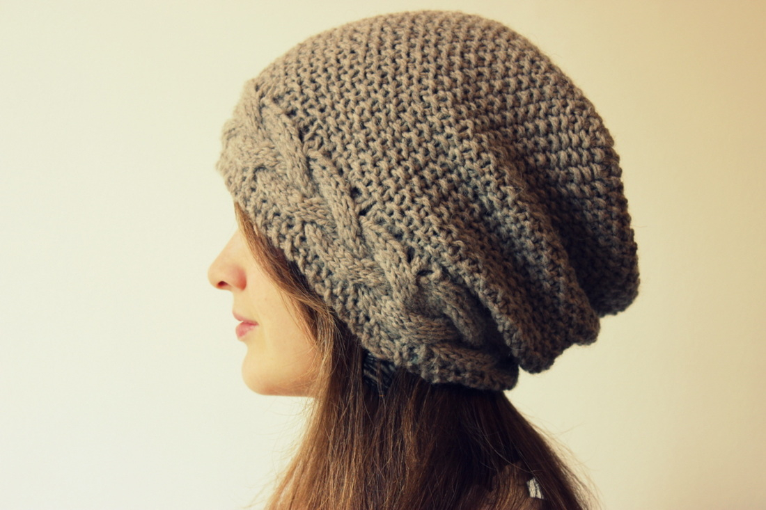 Beret Knitting Pattern Easy Slouchy Hat Knitting Patterns In The Loop Knitting