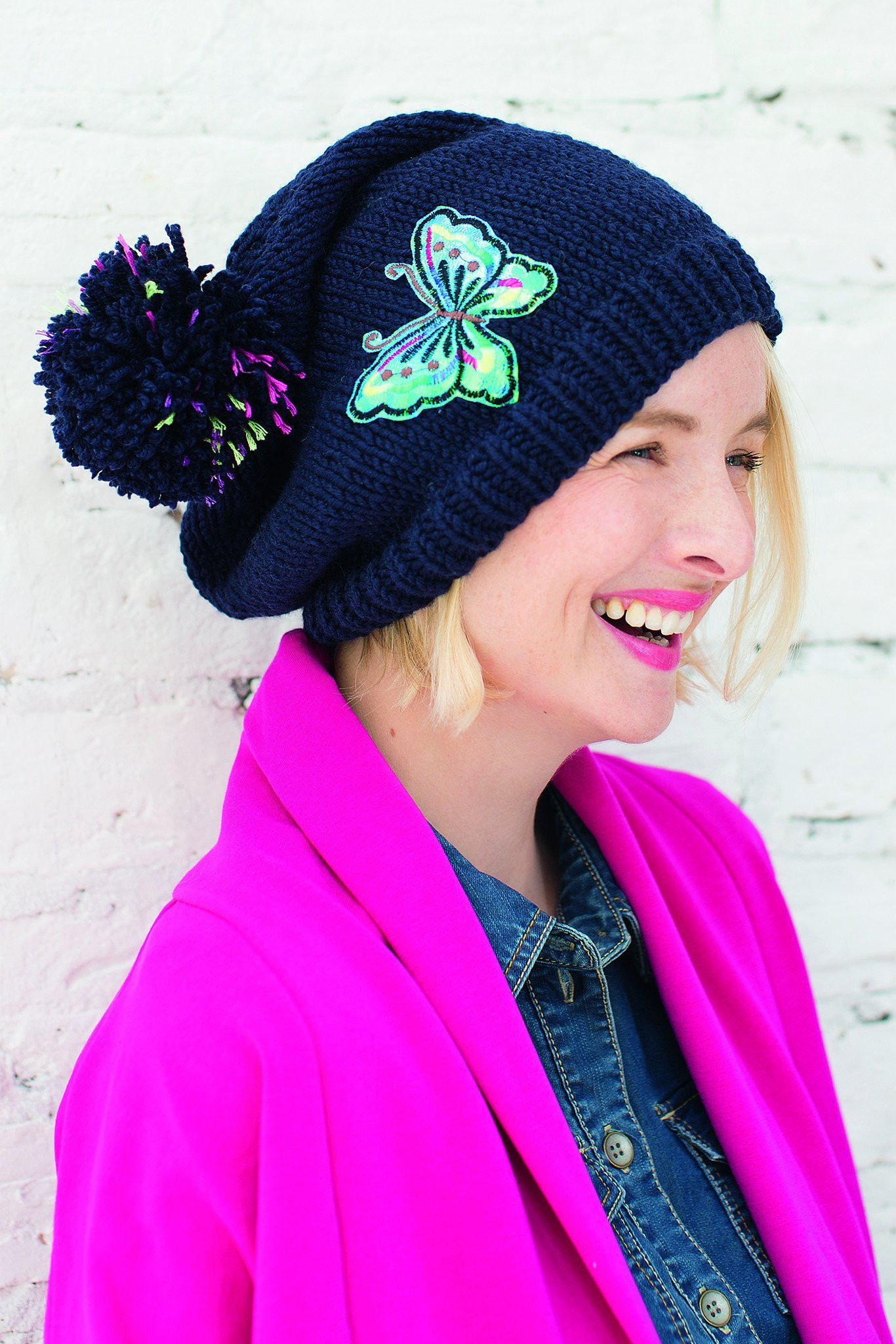 Bobble Hat Knitting Pattern Embroidered Bobble Hat Knitting Pattern