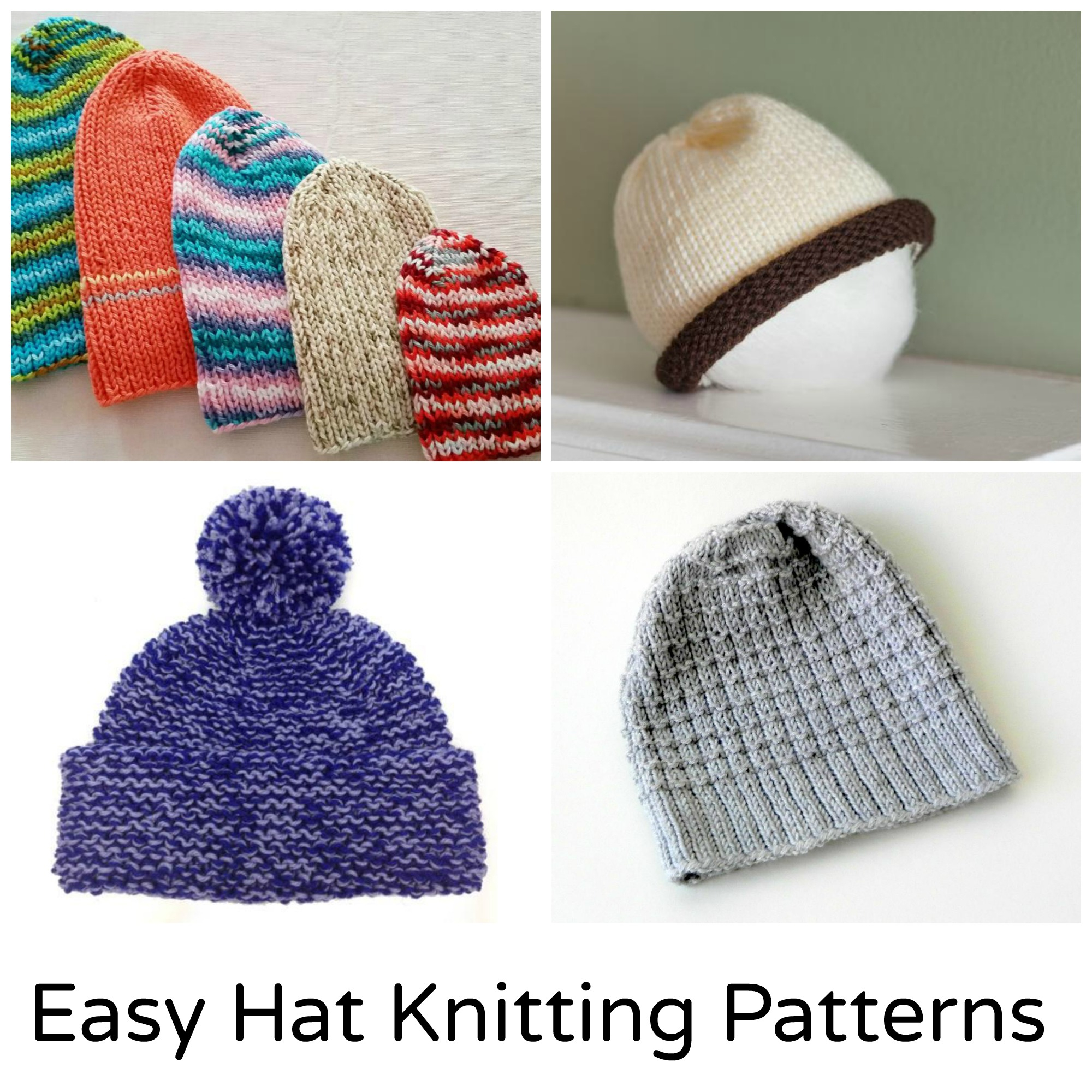 Bobble Hat Knitting Pattern Free Easy Knitting Patterns For Hats Free