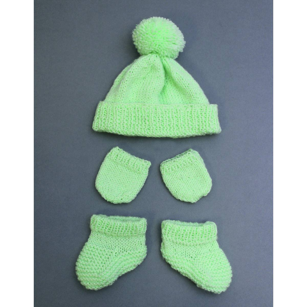 Bobble Hat Knitting Pattern Free Free Pattern Ba Brilliance Bobble Hat Mittens And Bootees Hobcraft