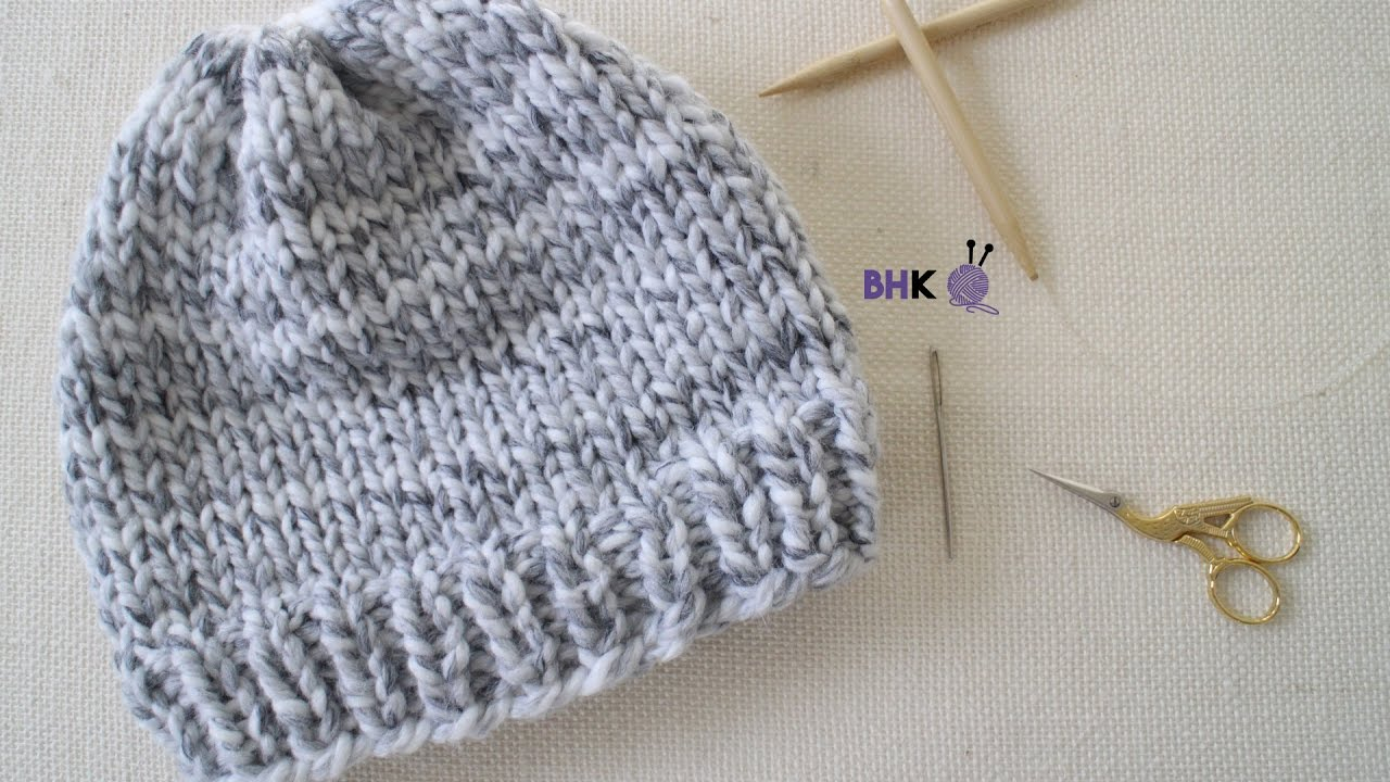 Bobble Hat Knitting Pattern Free How To Knit A Hat For Complete Beginners