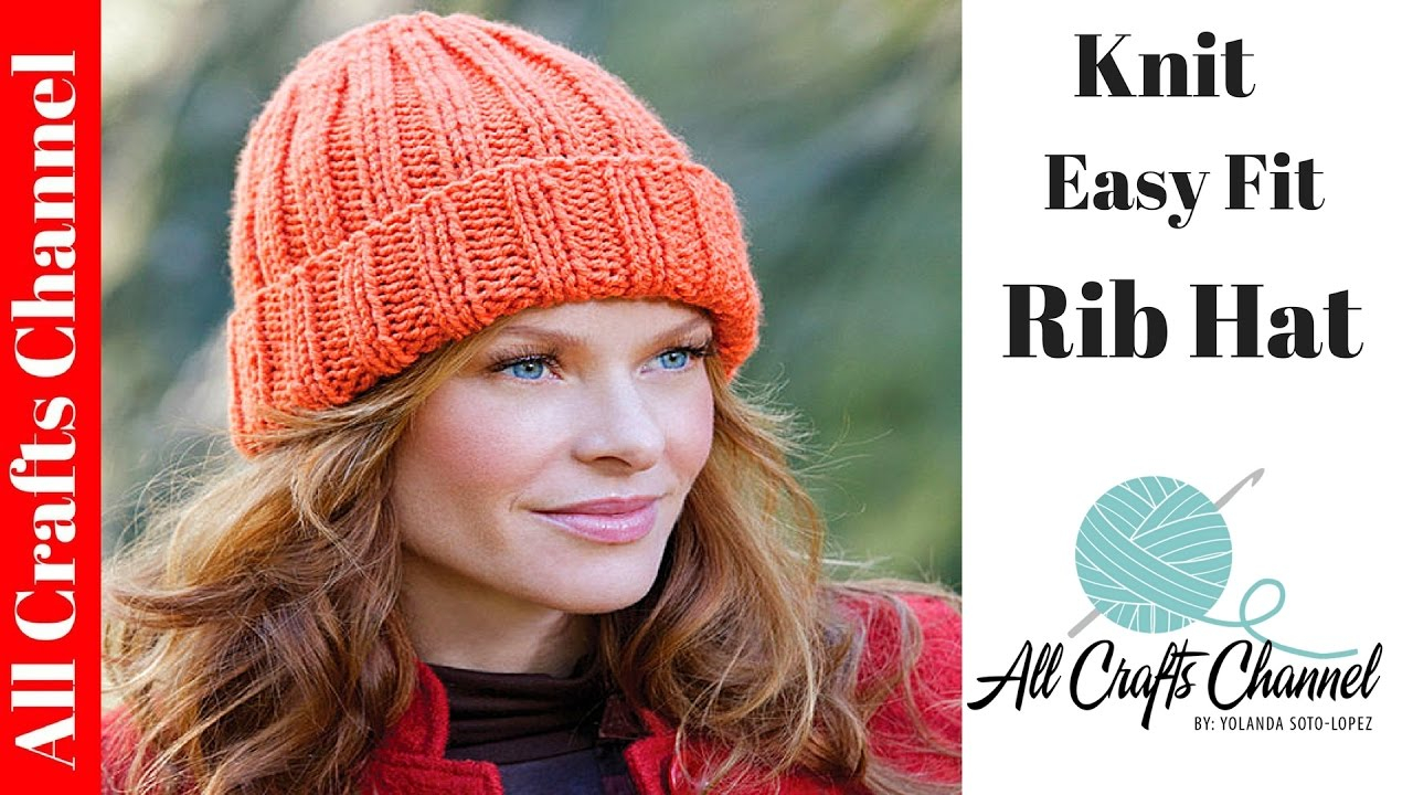 Bobble Hat Knitting Pattern Free How To Knit An Easy Fit Ribbed Hat Yolanda Soto Lopez