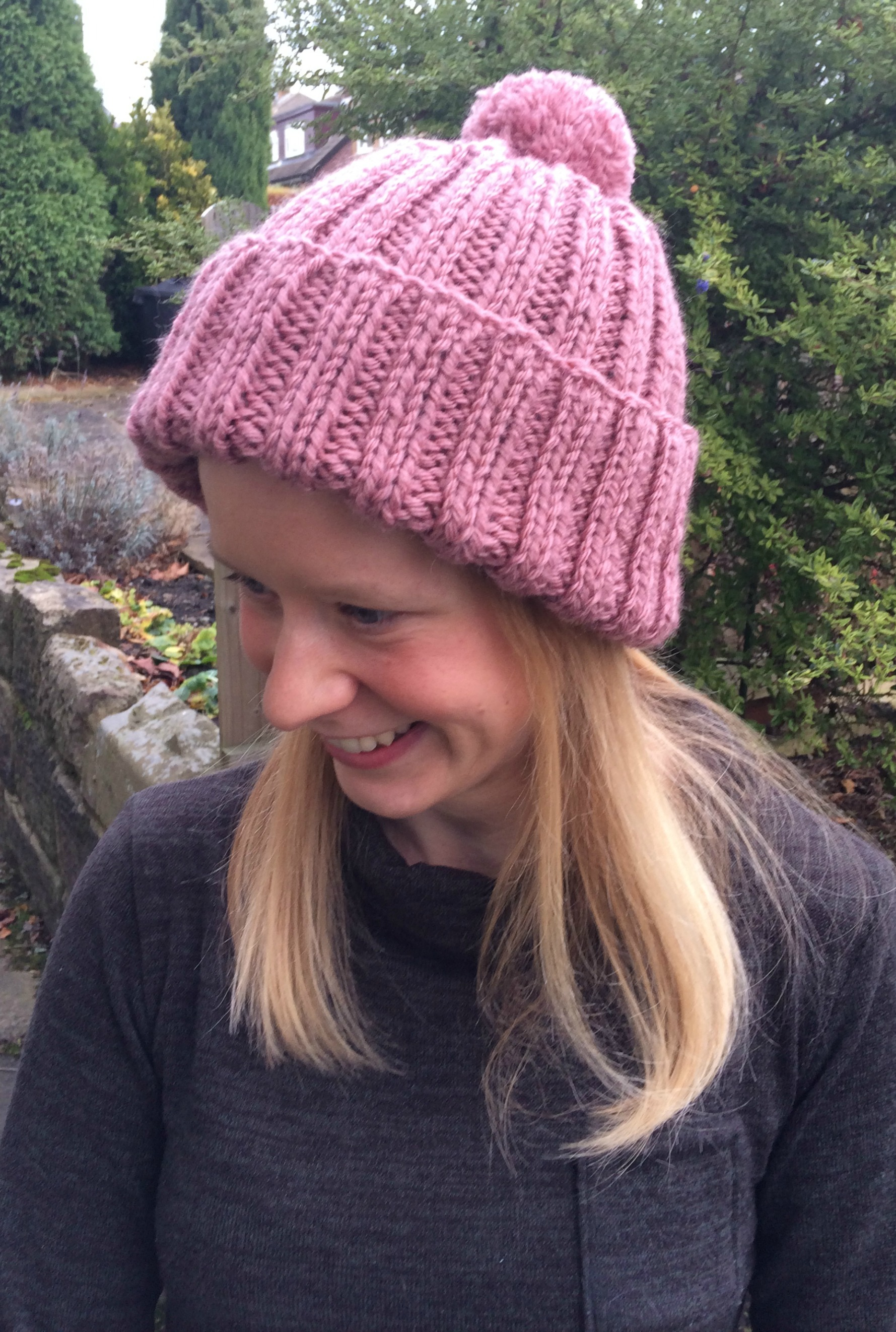 Bobble Hat Knitting Pattern Free I Knitted A Woolly Hat Free Knitting Pattern Sew Sensational