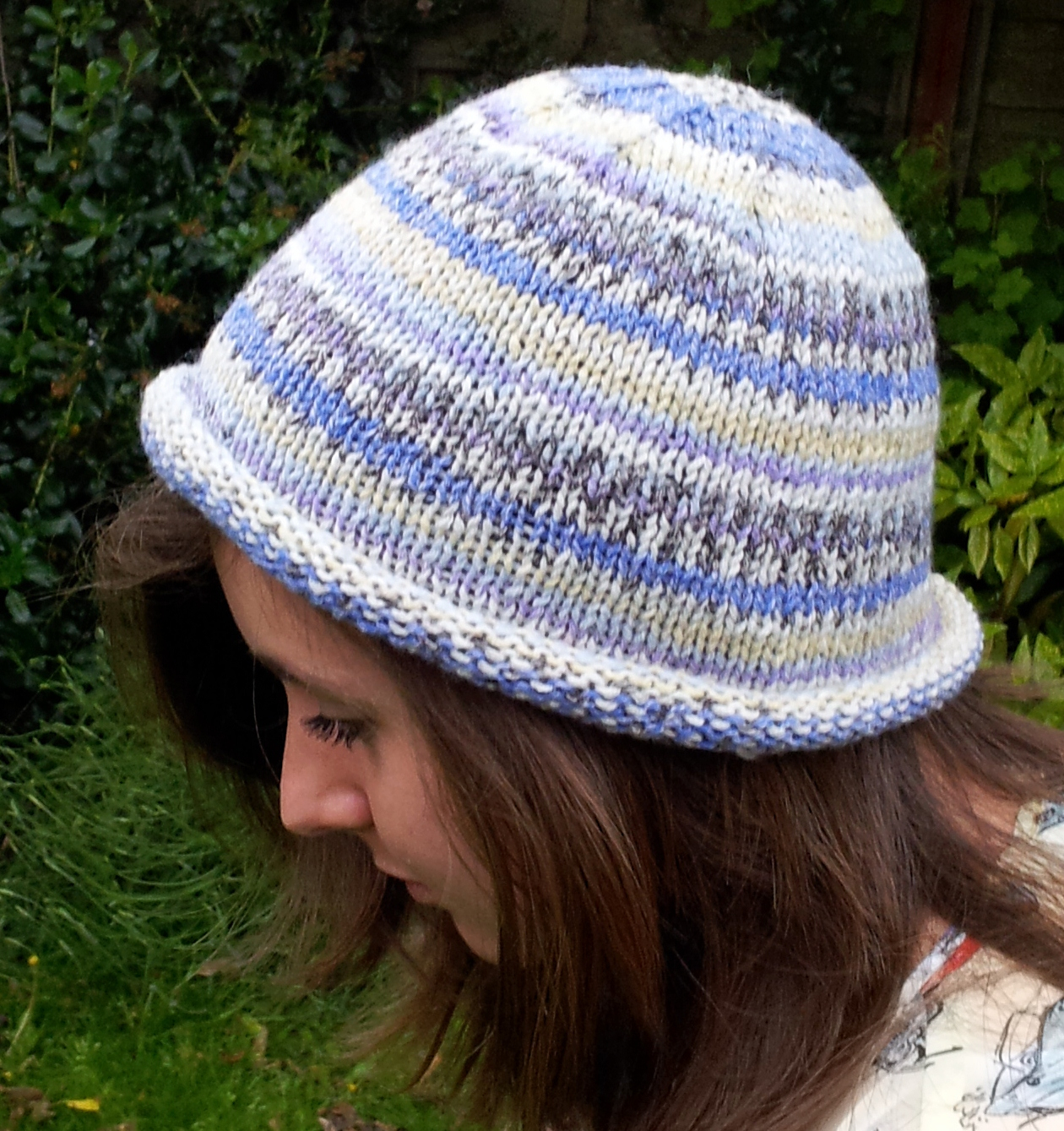 Bobble Hat Knitting Pattern Free Knitted Rolled Brim Beanie Hat Free Beginners Pattern