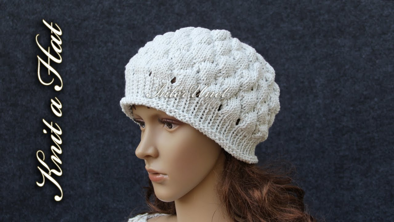 Bobble Hat Knitting Pattern How To Knit A Hat Bobble Stitch Hat Knitting Pattern
