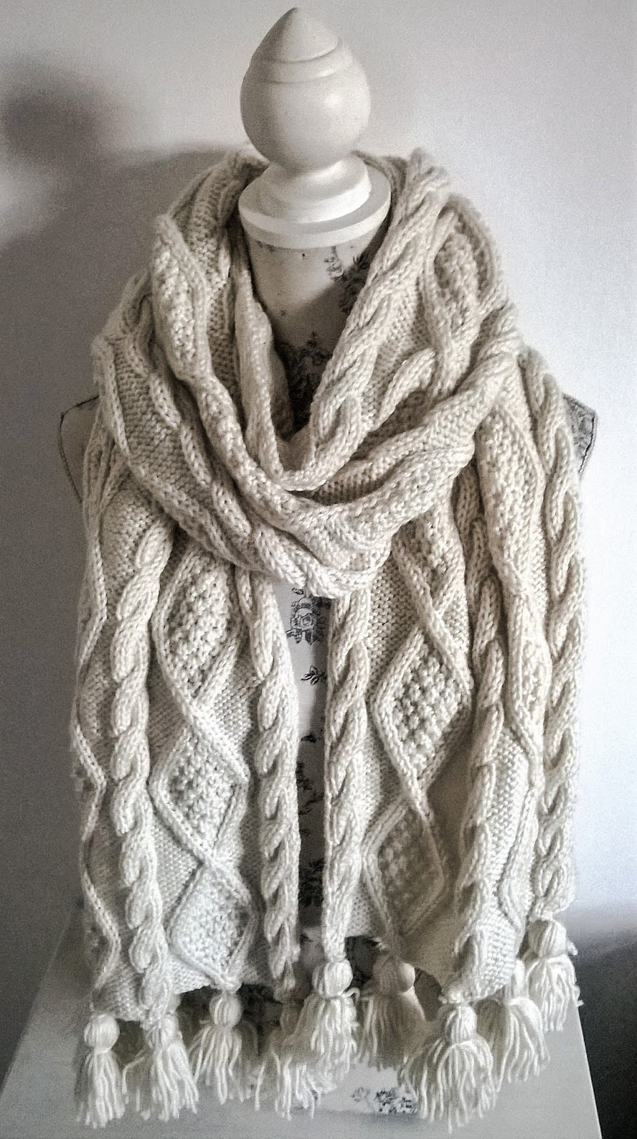 Cable Knitted Scarf Pattern Cable Scarf Patterns Knitting