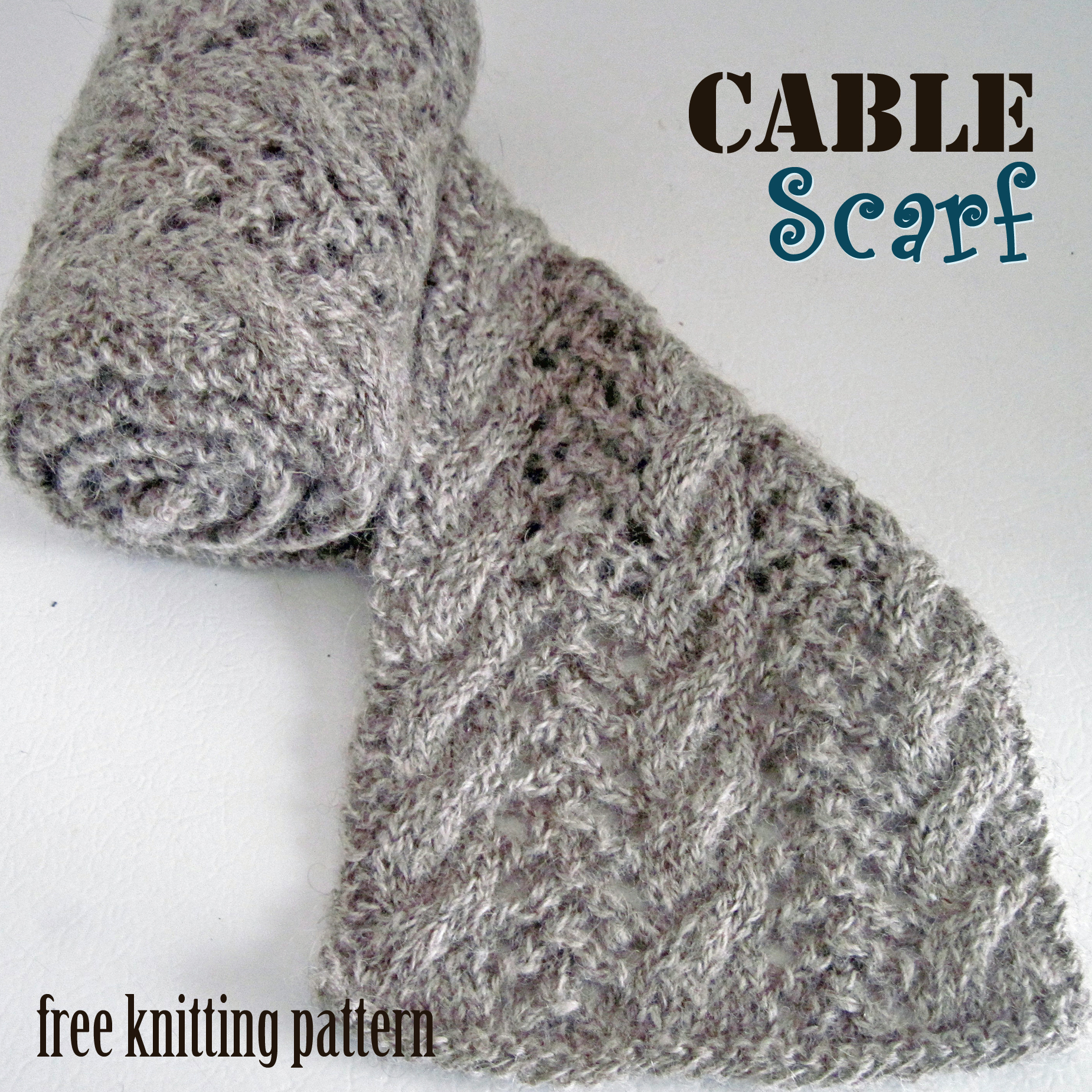 Cable Knitted Scarf Pattern Free Knitting Pattern Cable Scarf