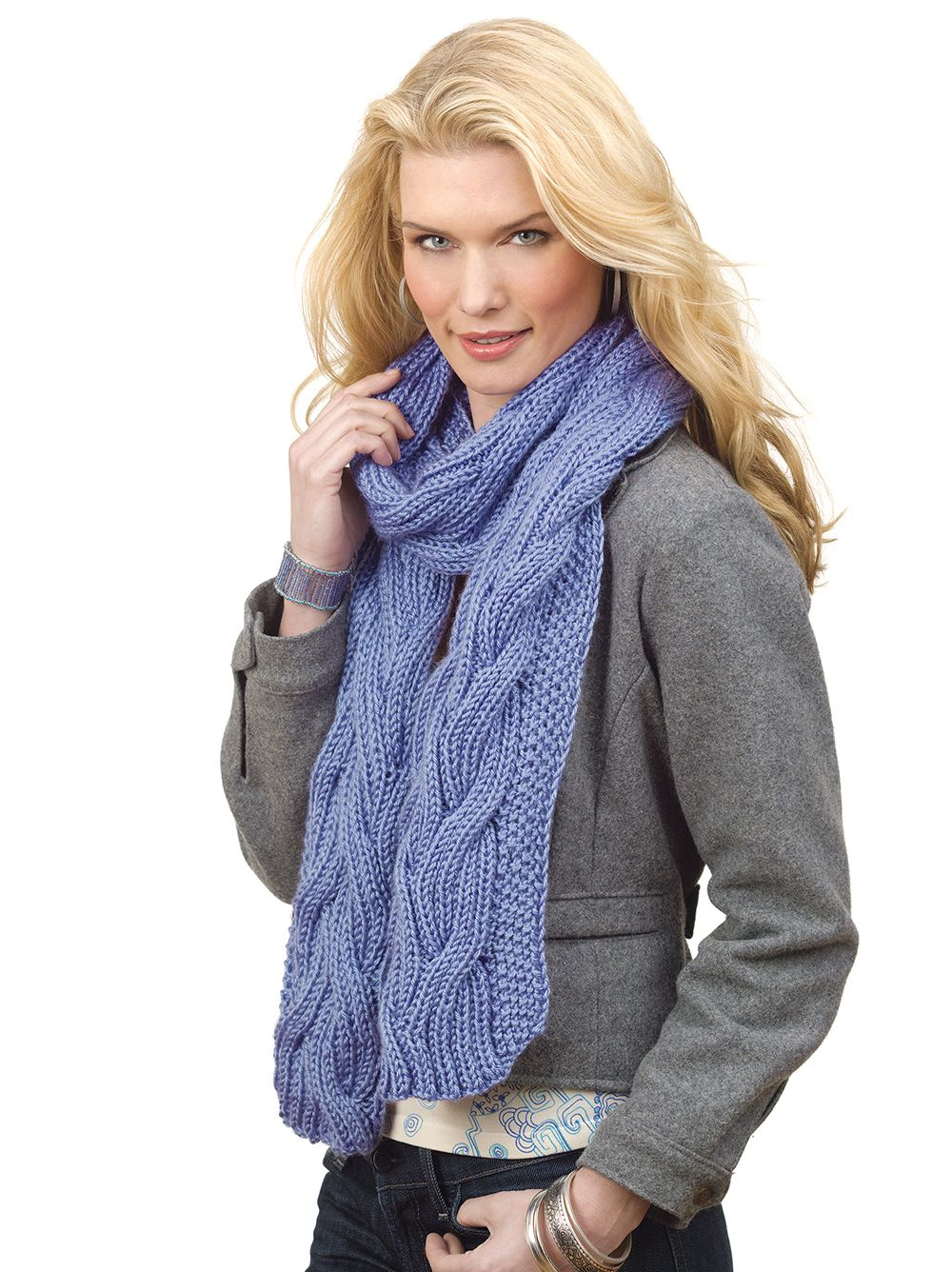 Cable Knitted Scarf Pattern Free Reversible Cable Rib Scarf Pattern