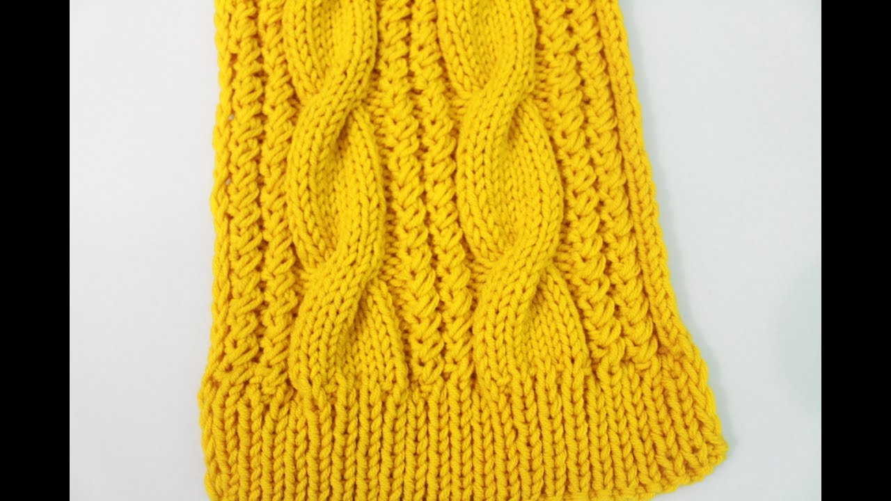 Cable Knitted Scarf Pattern How To Knit A Cable Scarf Remake